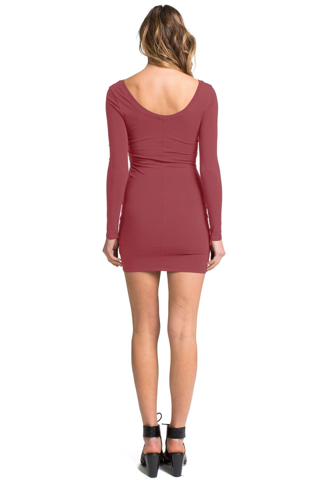 Alternate Image 2  - LAmade Long Sleeve Knit Body-Con Dress