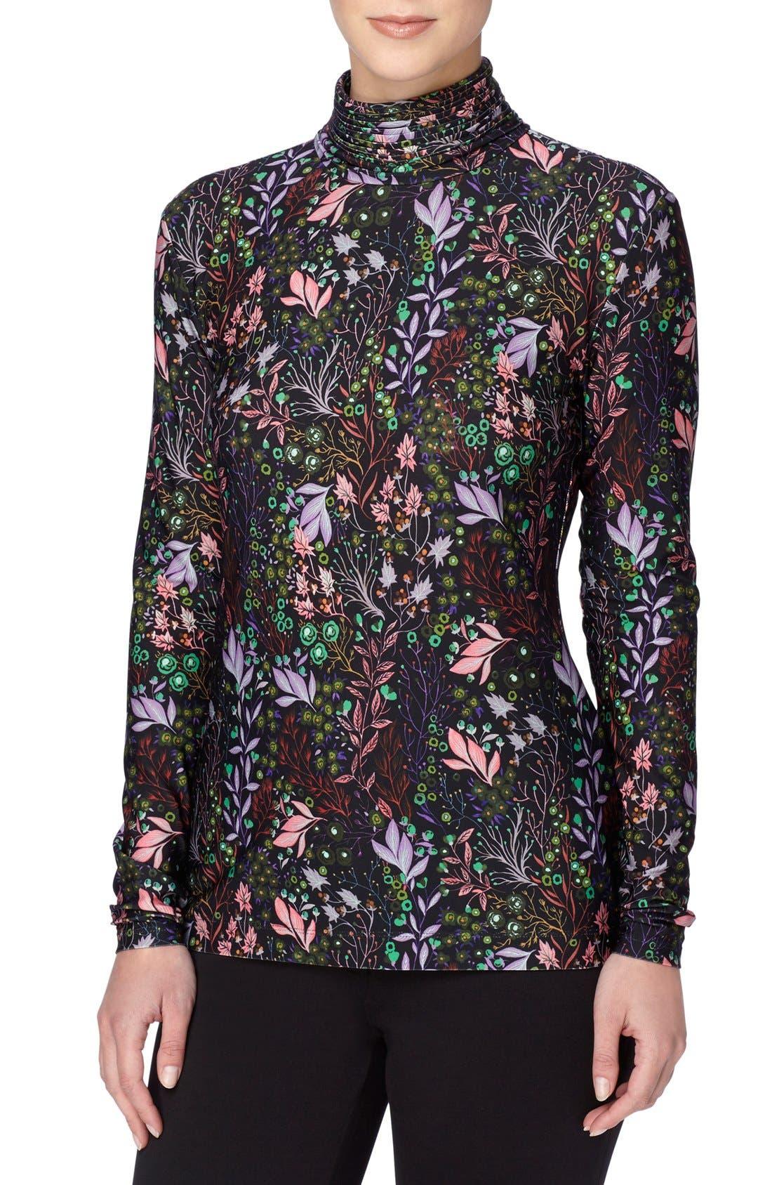 floral-print top