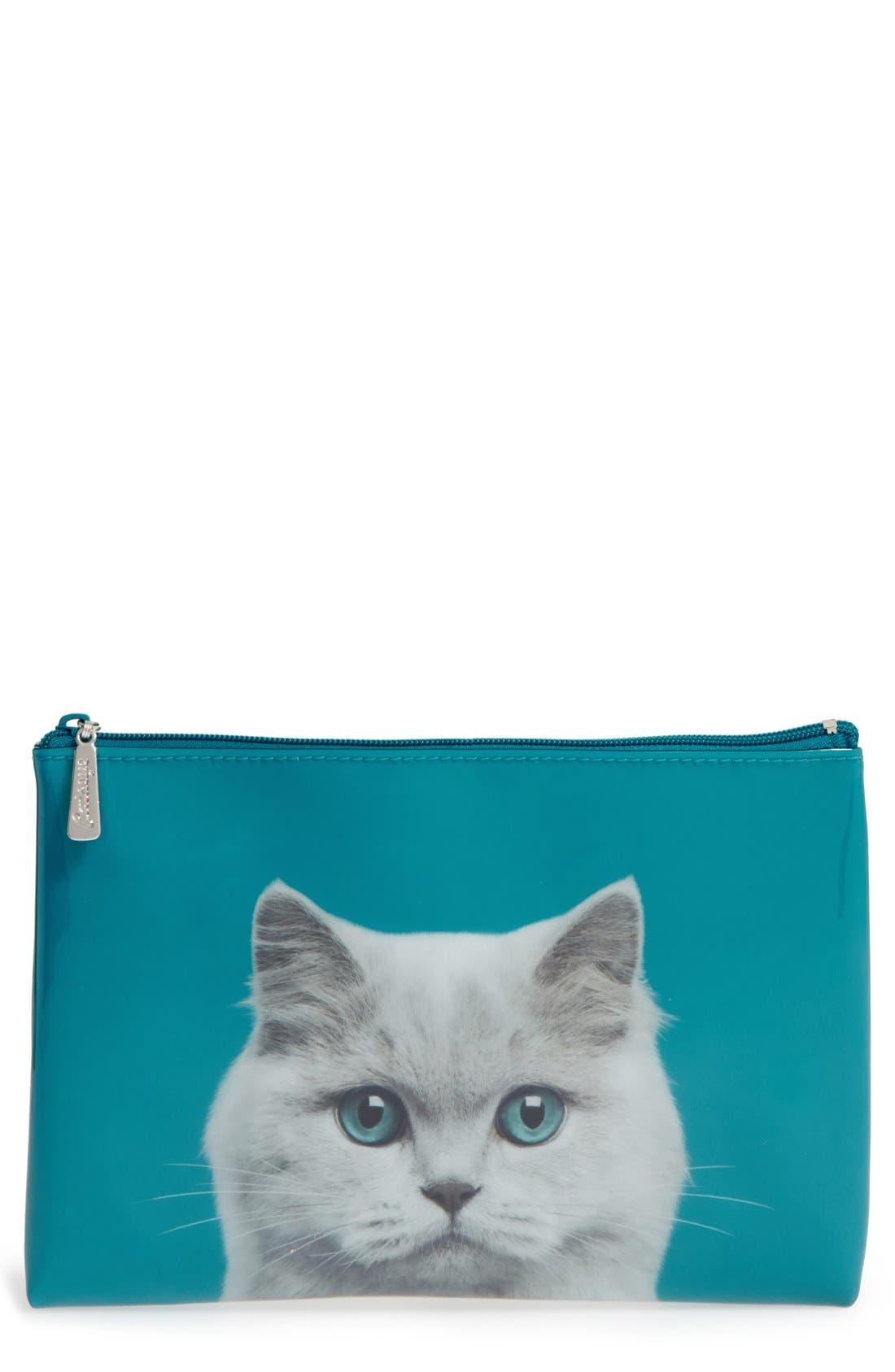 Main Image - Catseye London Large Cat Zip Pouch