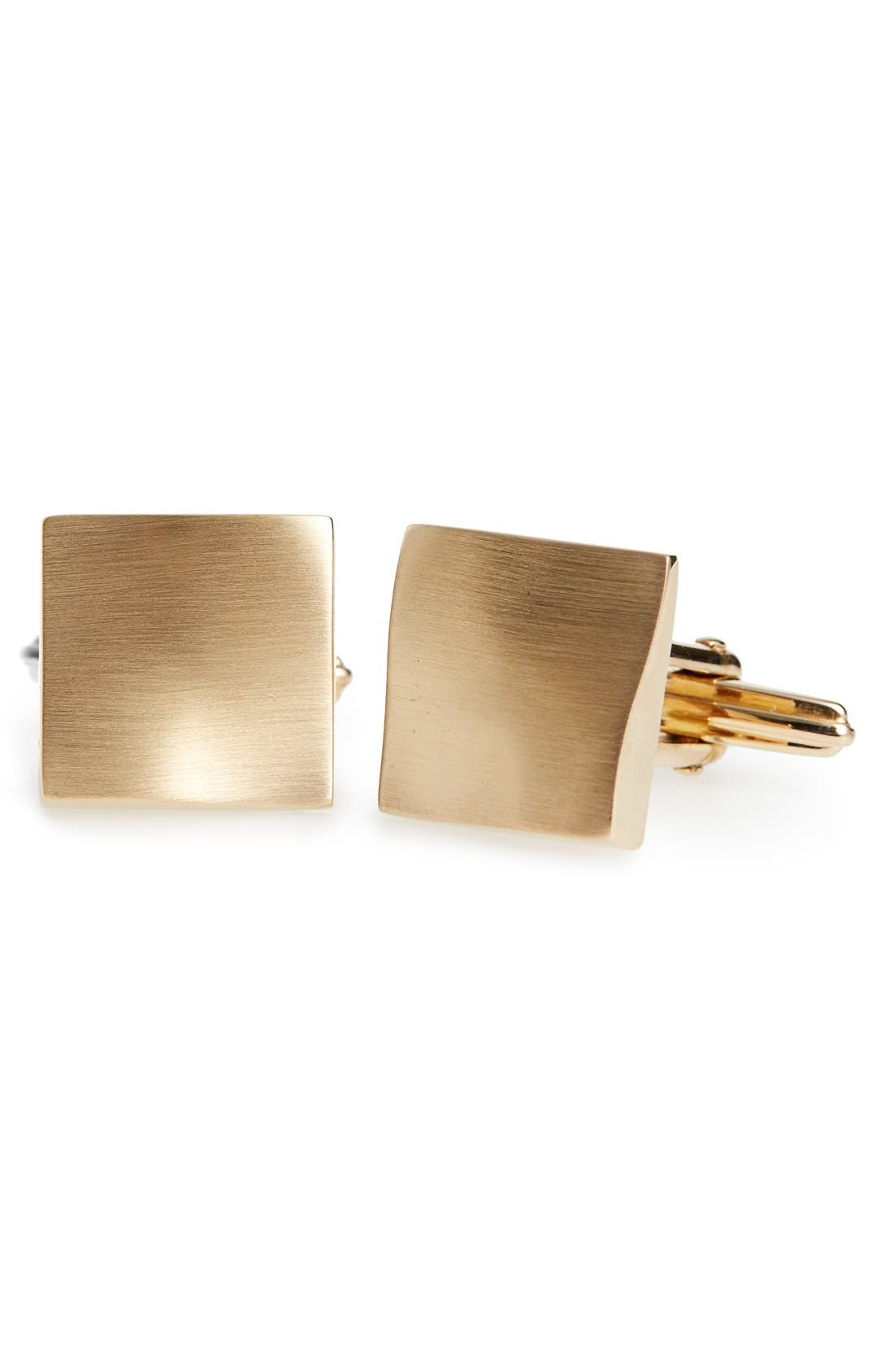 Lanvin 'Twisted Plaque' Square Cuff Links