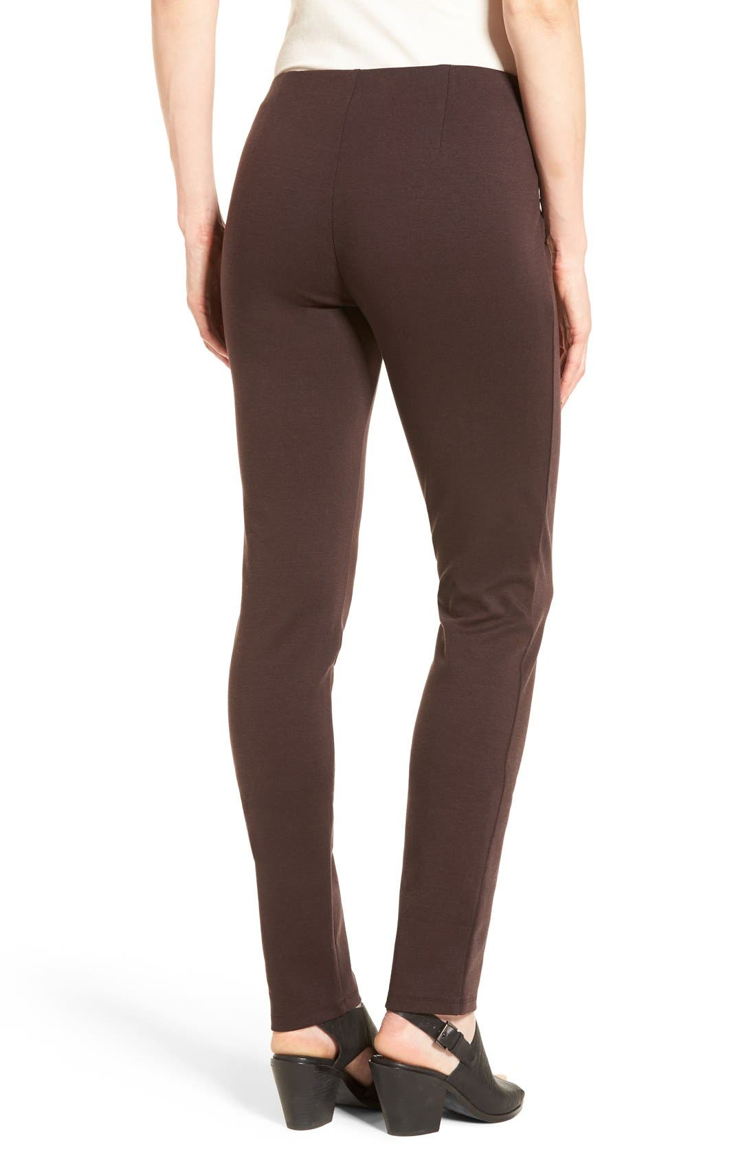 Alternate Image 2  - Eileen Fisher Tencel® Blend Ponte Slim Leg Pants