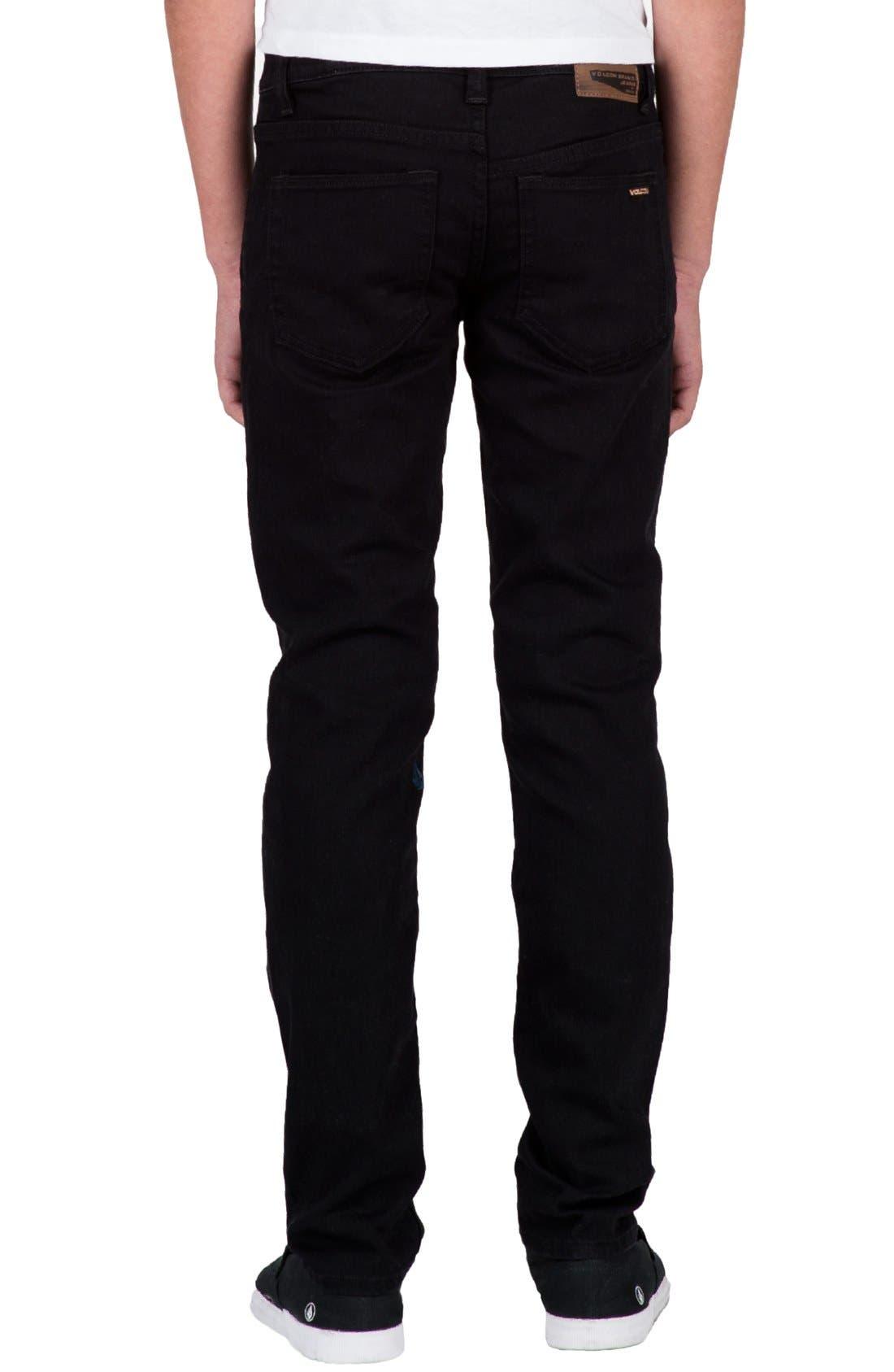 'Solver' Straight Leg Denim Jeans,                             Alternate thumbnail 2, color,                             New Black