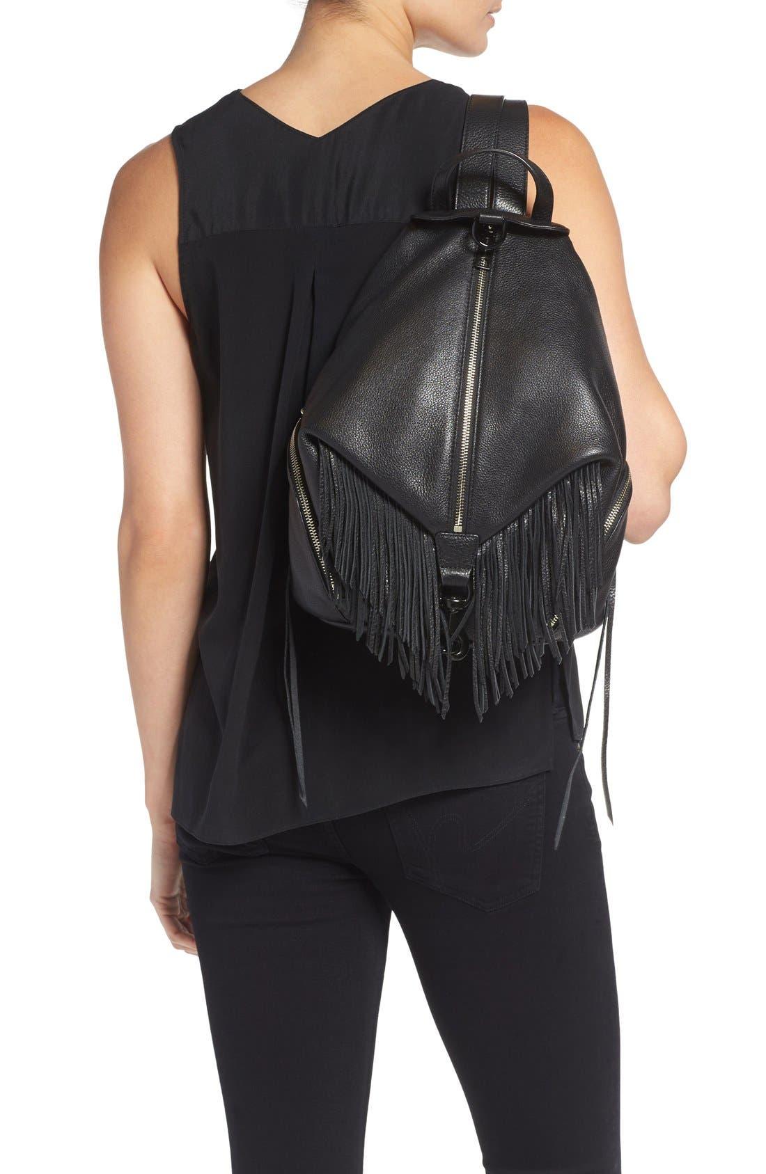 'Fringe Julian' Backpack,                             Alternate thumbnail 2, color,                             Black