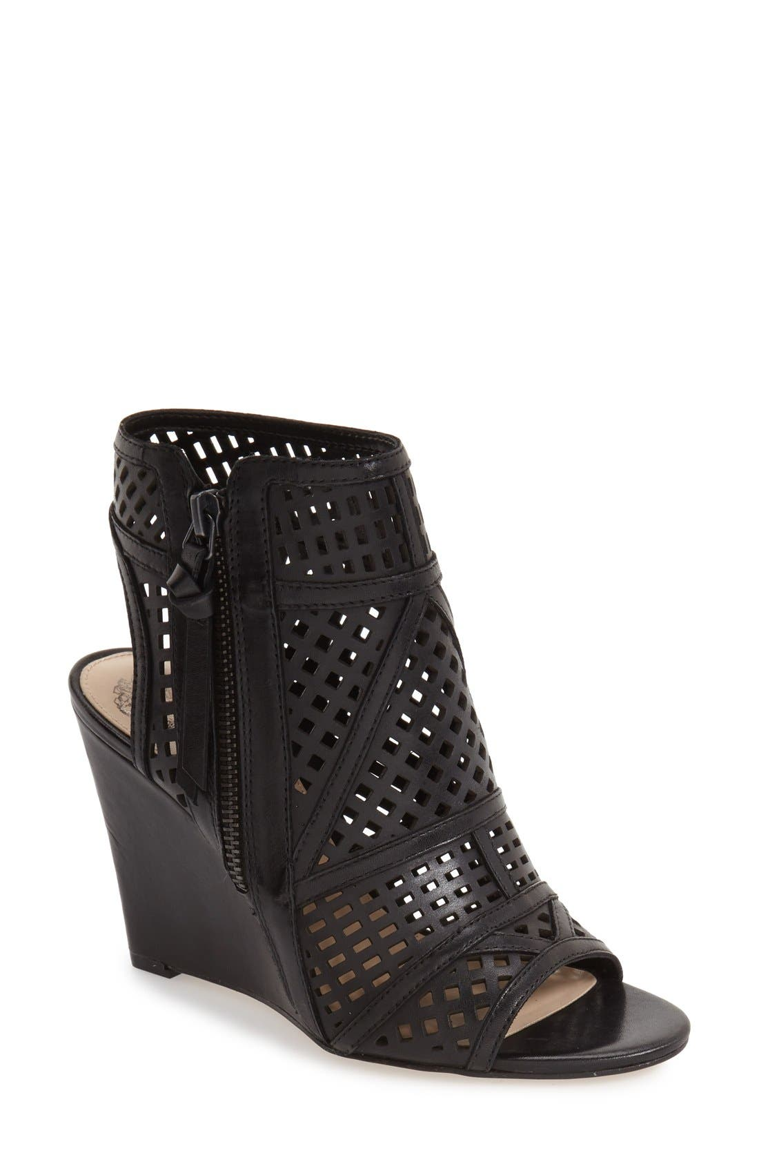 VINCE CAMUTO Xabrina Perforated Wedge Sandal