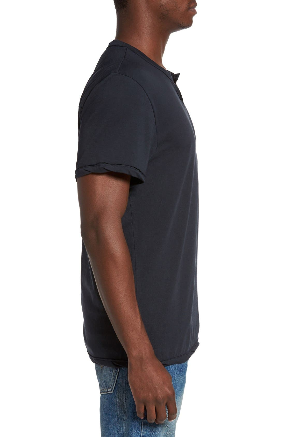 Alternate Image 3  - Alternative Notched Neck Organic Cotton T-Shirt
