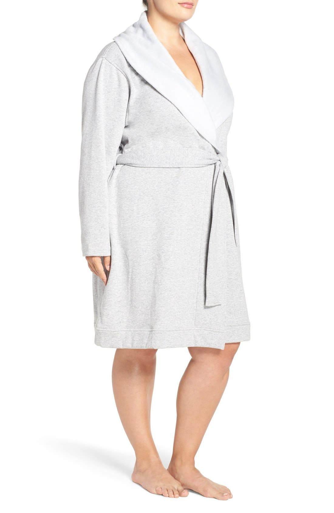 Alternate Image 3  - UGG® 'Blanche' Plush Shawl Collar Robe (Plus Size)