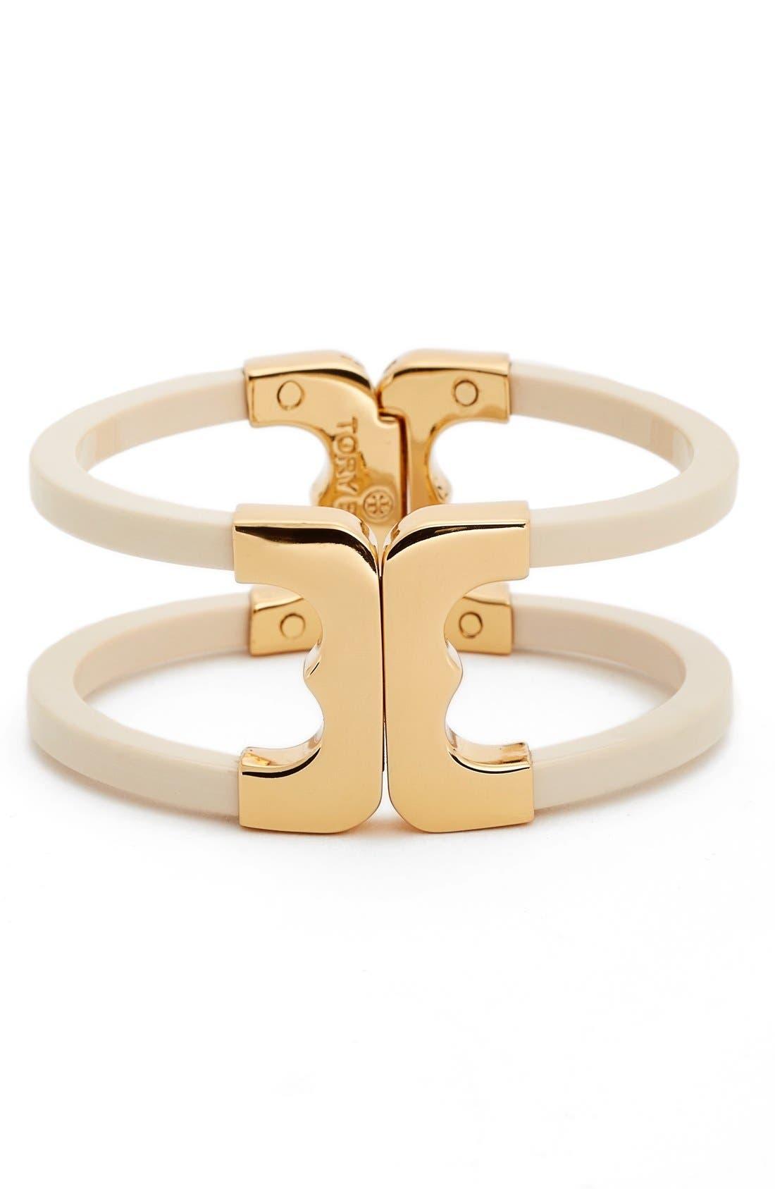 'Gemini' Openwork Bracelet,                             Main thumbnail 1, color,                             Ivory/ Gold