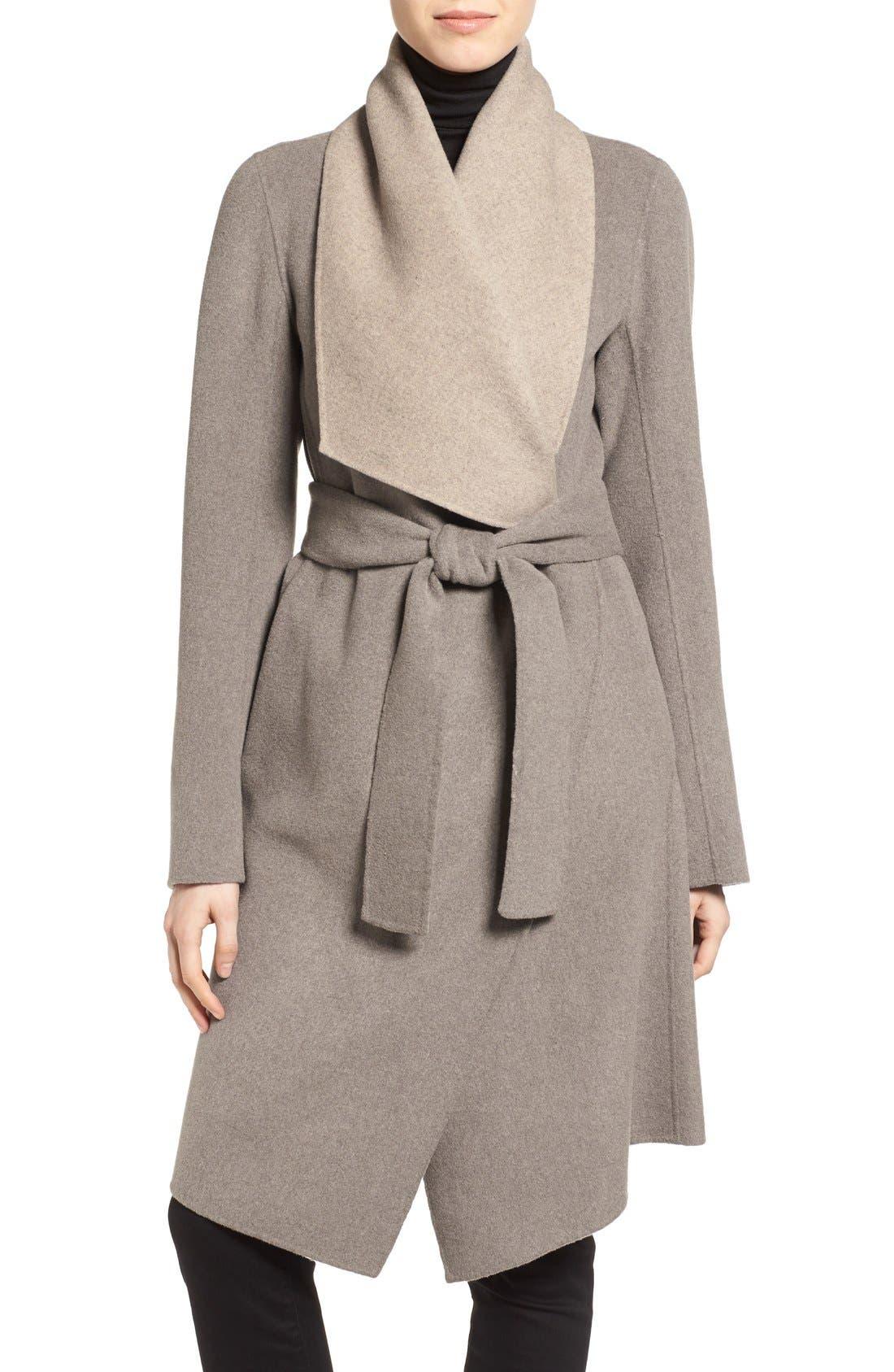 Main Image - Diane von Furstenberg Reversible Double Face Wrap Coat