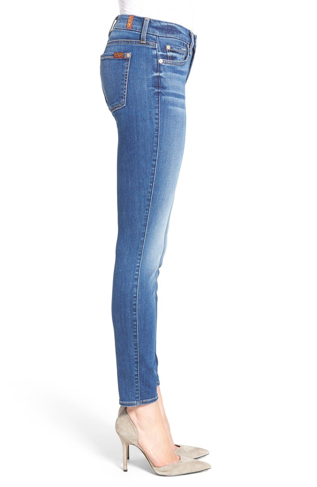 Alternate Image 3  - 7 For All Mankind® 'b(air) - The Ankle' Skinny Jeans (Duchess 2)
