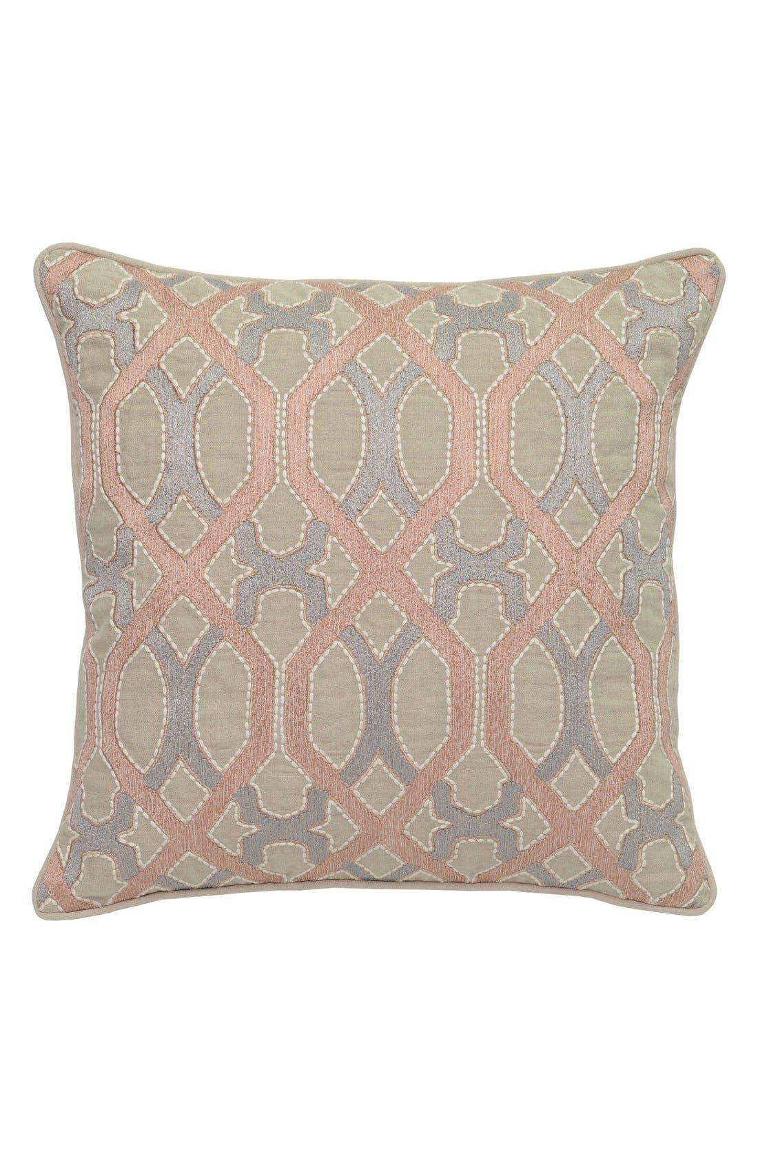 'Lois' Accent Pillow,                         Main,                         color, Blush/ Grey