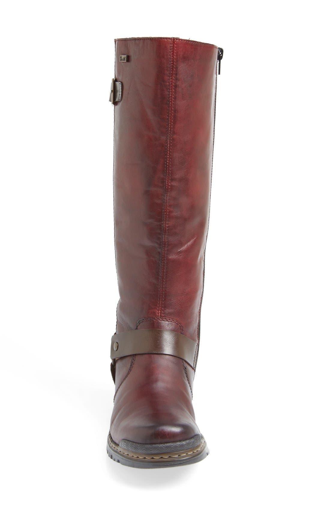 'Sybille 70' Riding Boot,                             Alternate thumbnail 3, color,                             Bordeaux Leather