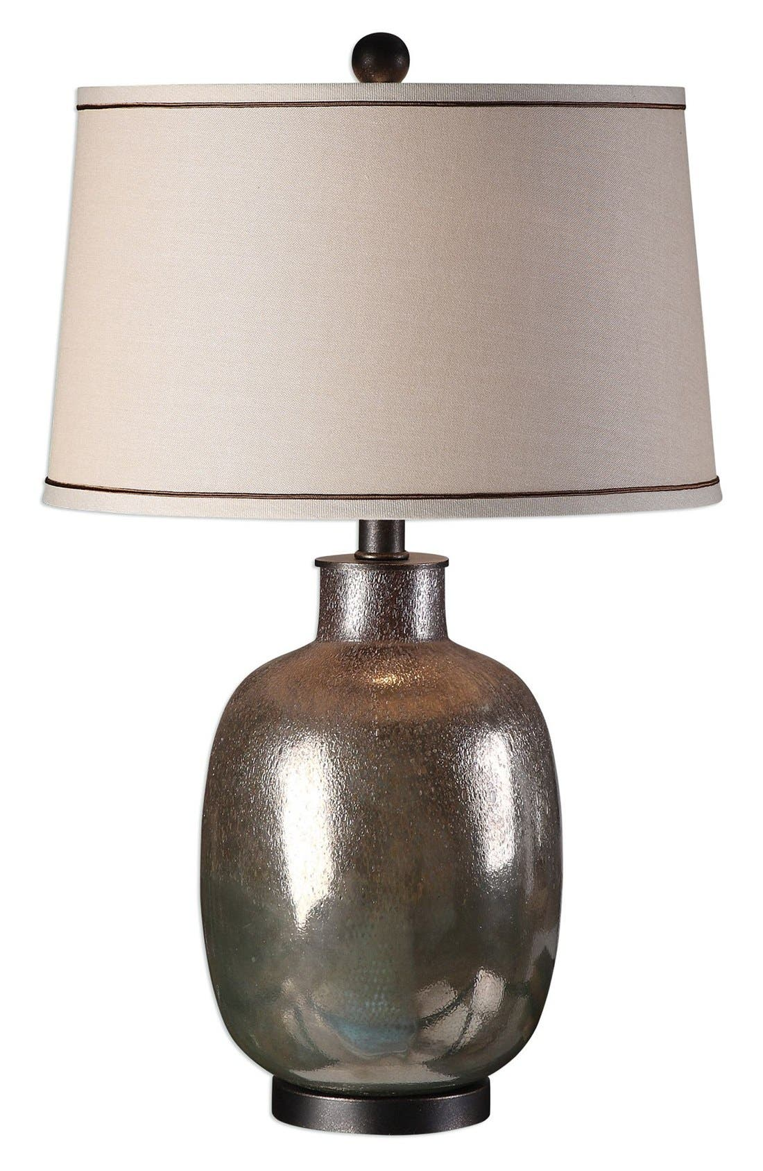Glazed Glass Table Lamp,                             Main thumbnail 1, color,                             Grey