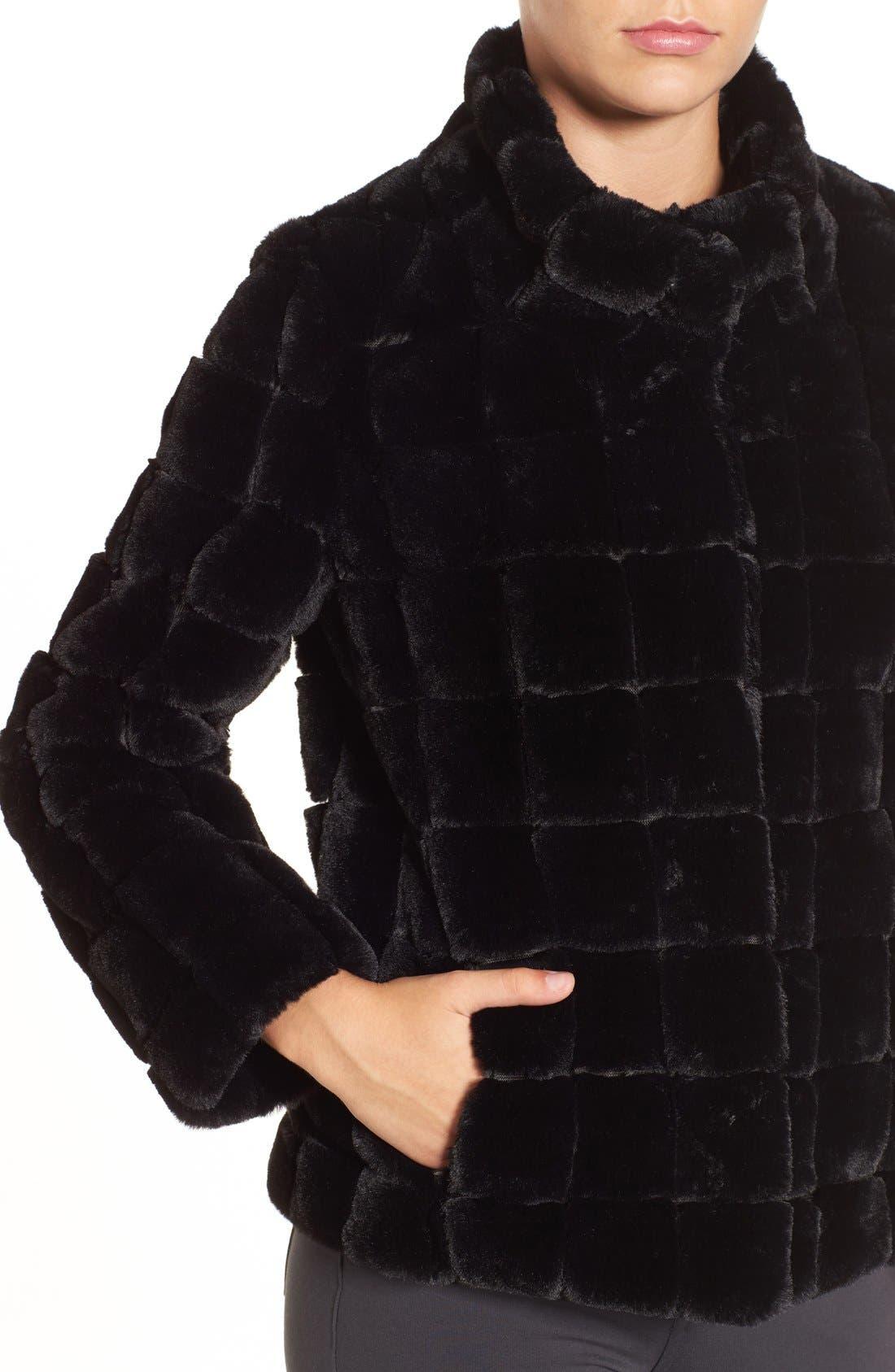 Alternate Image 4  - Kristen Blake Faux Fur Jacket