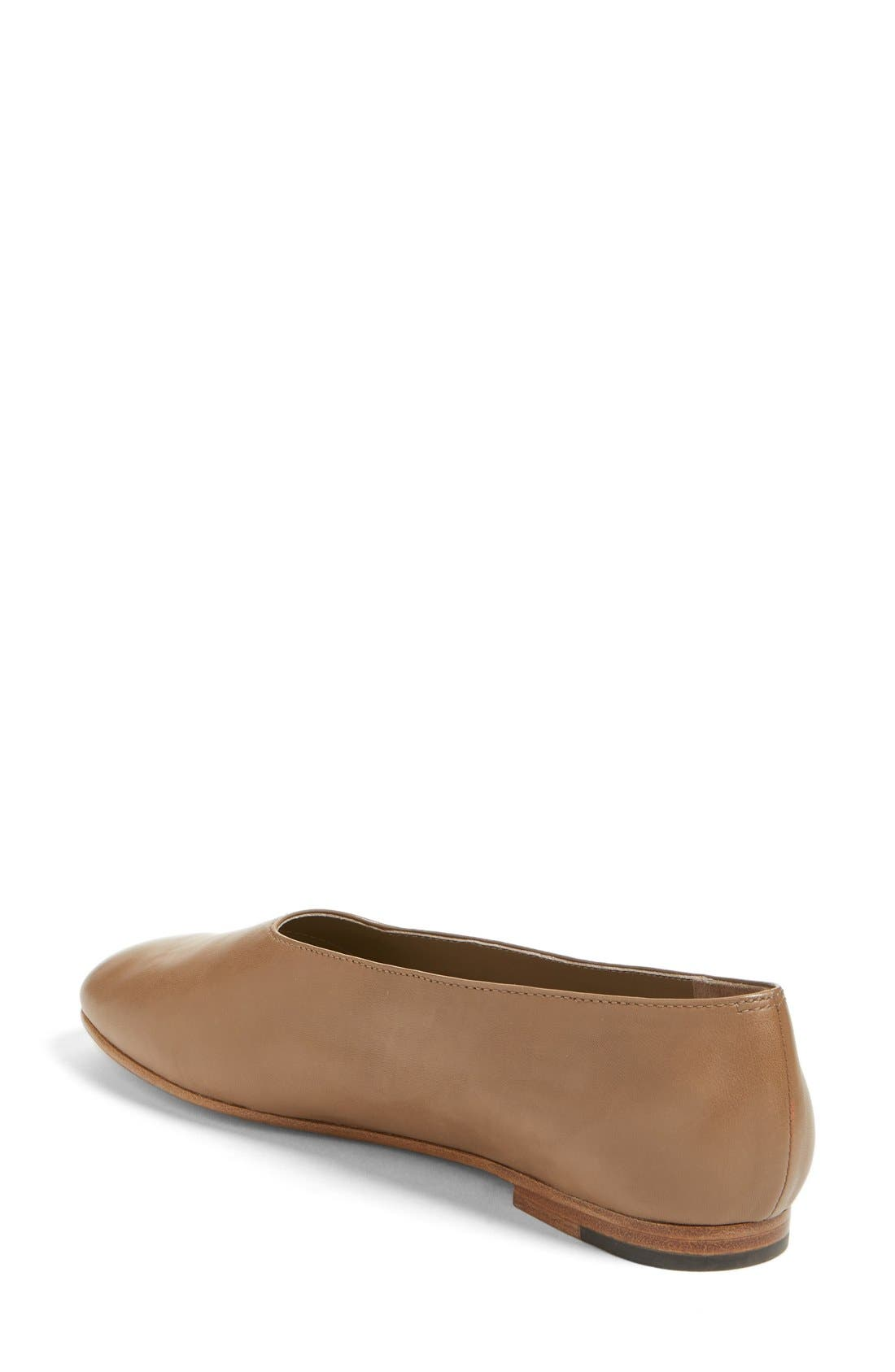 'Maxwell' Flat,                             Alternate thumbnail 2, color,                             Dark Taupe Leather
