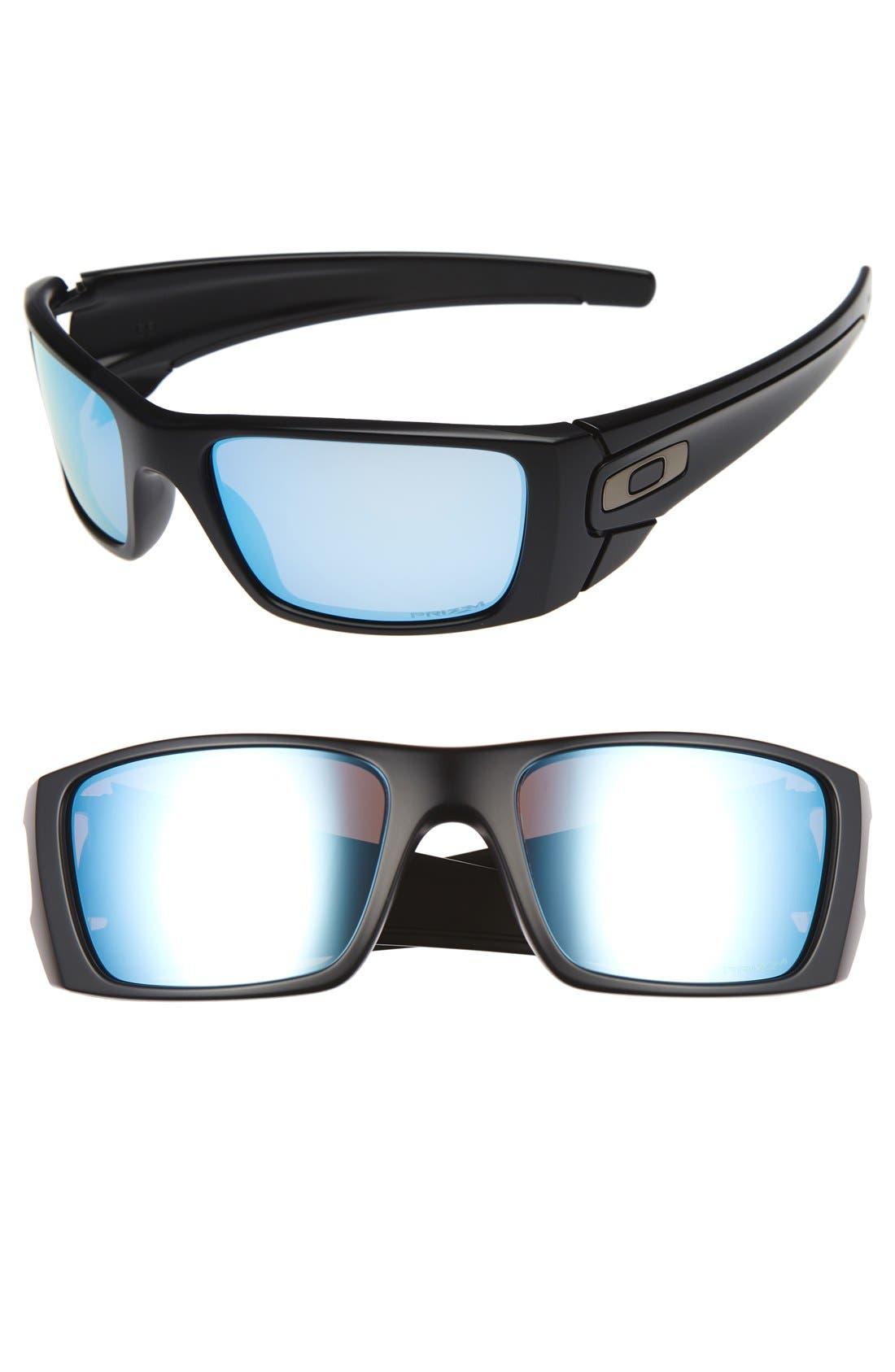 'Fuel Cell<sup>™</sup> PRIZM<sup>™</sup>' 60mm Polarized Sunglasses,                         Main,                         color, Black