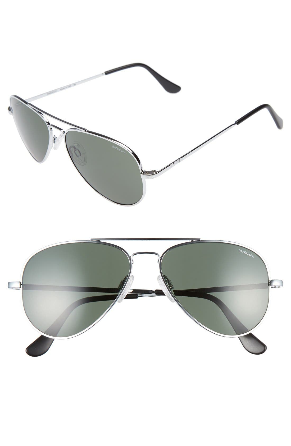 Alternate Image 1 Selected - Randolph Engineering 'Concorde' 57mm Aviator Sunglasses