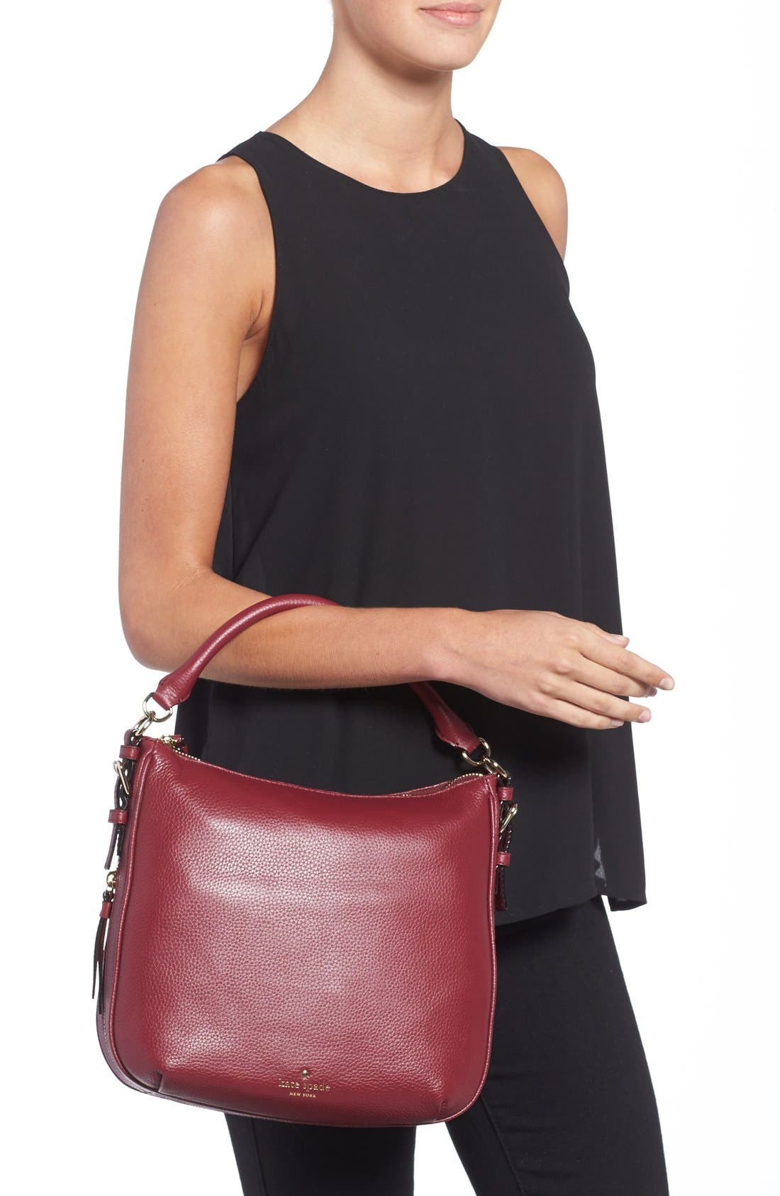 Alternate Image 2  - kate spade new york 'cobble hill - small ella' leather satchel