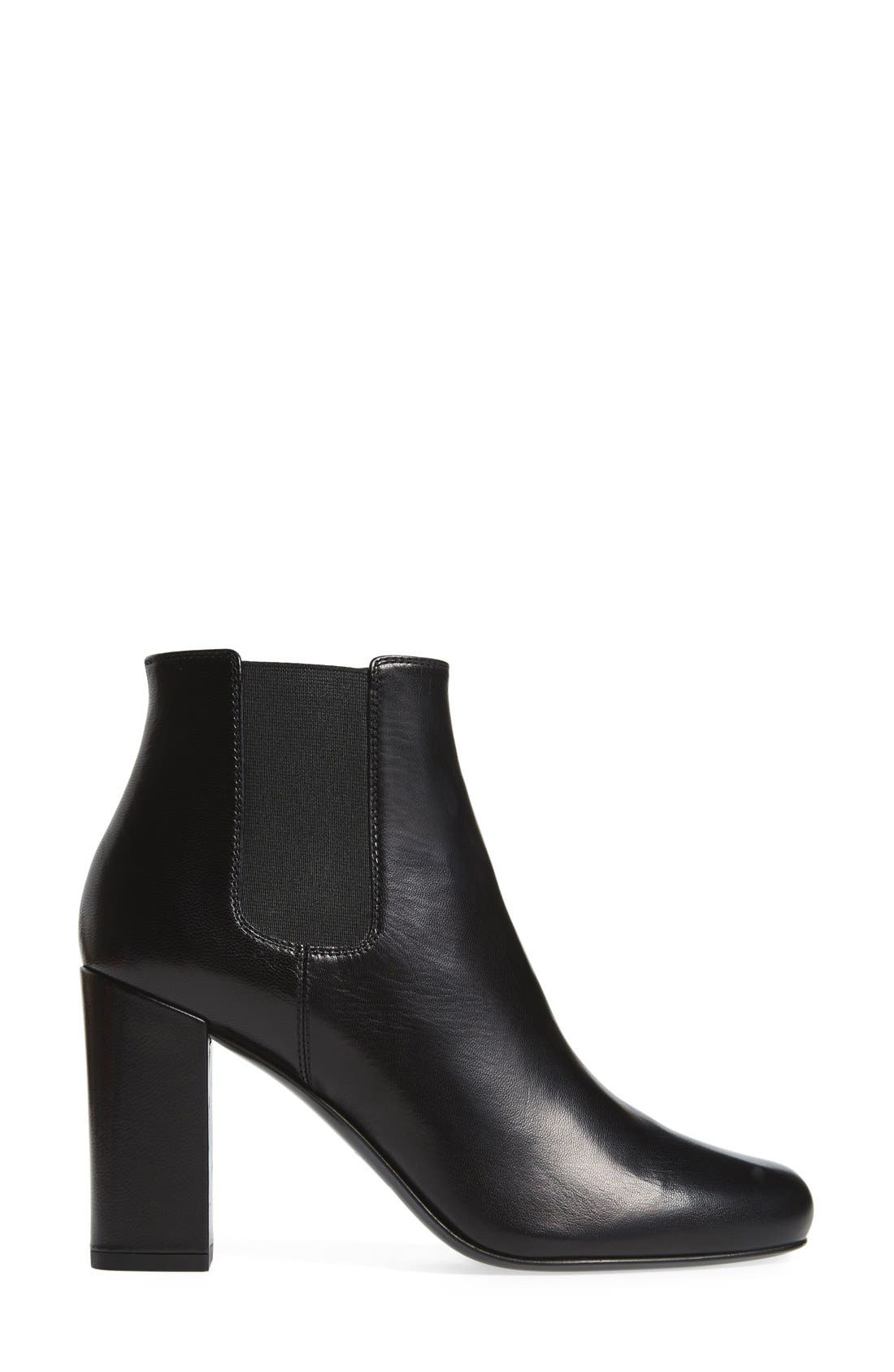 'Babies' Block Heel Chelsea Boot,                             Alternate thumbnail 4, color,                             Black Leather