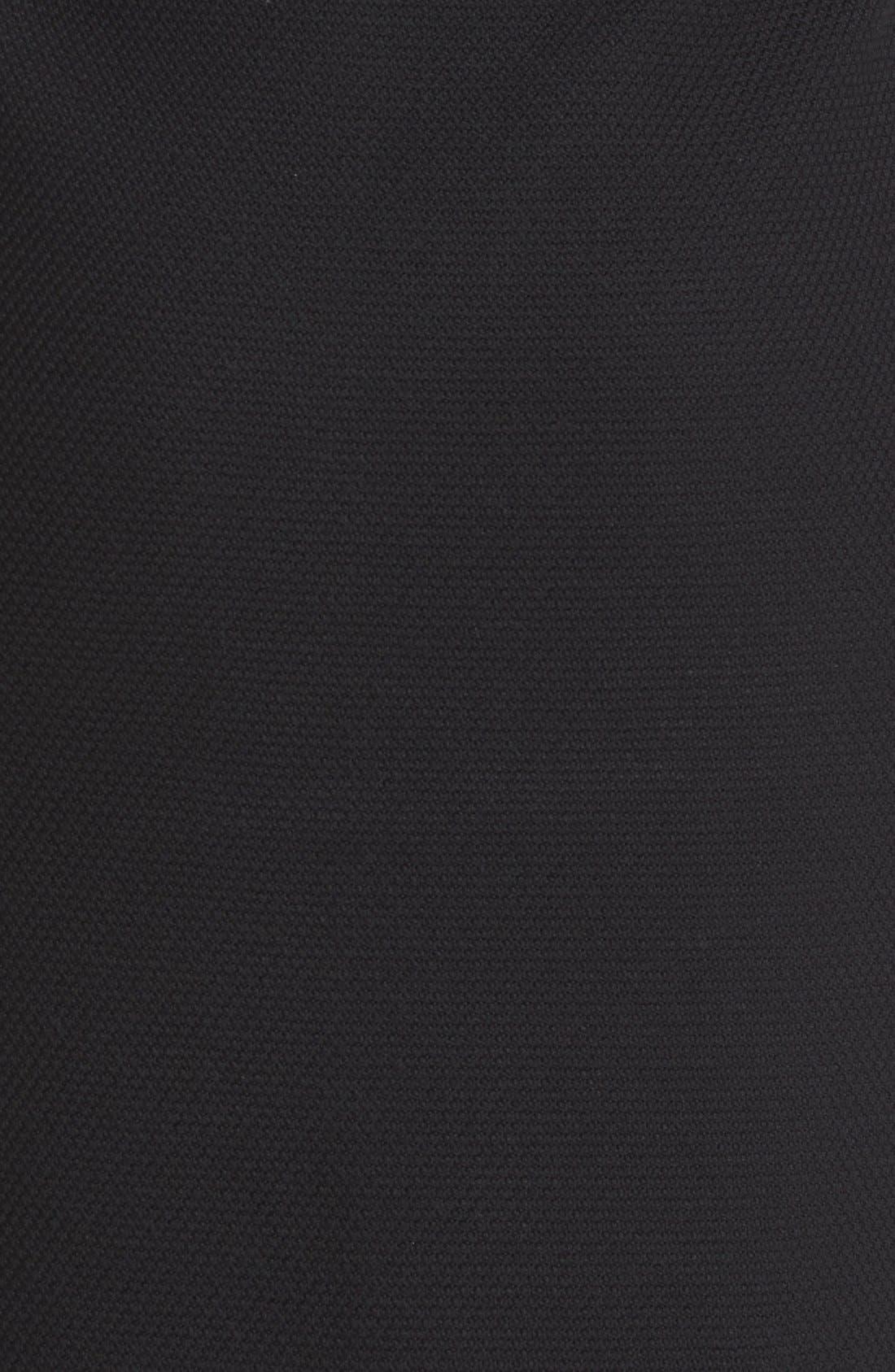Micro Bouclé Pencil Skirt,                             Alternate thumbnail 3, color,                             Caviar