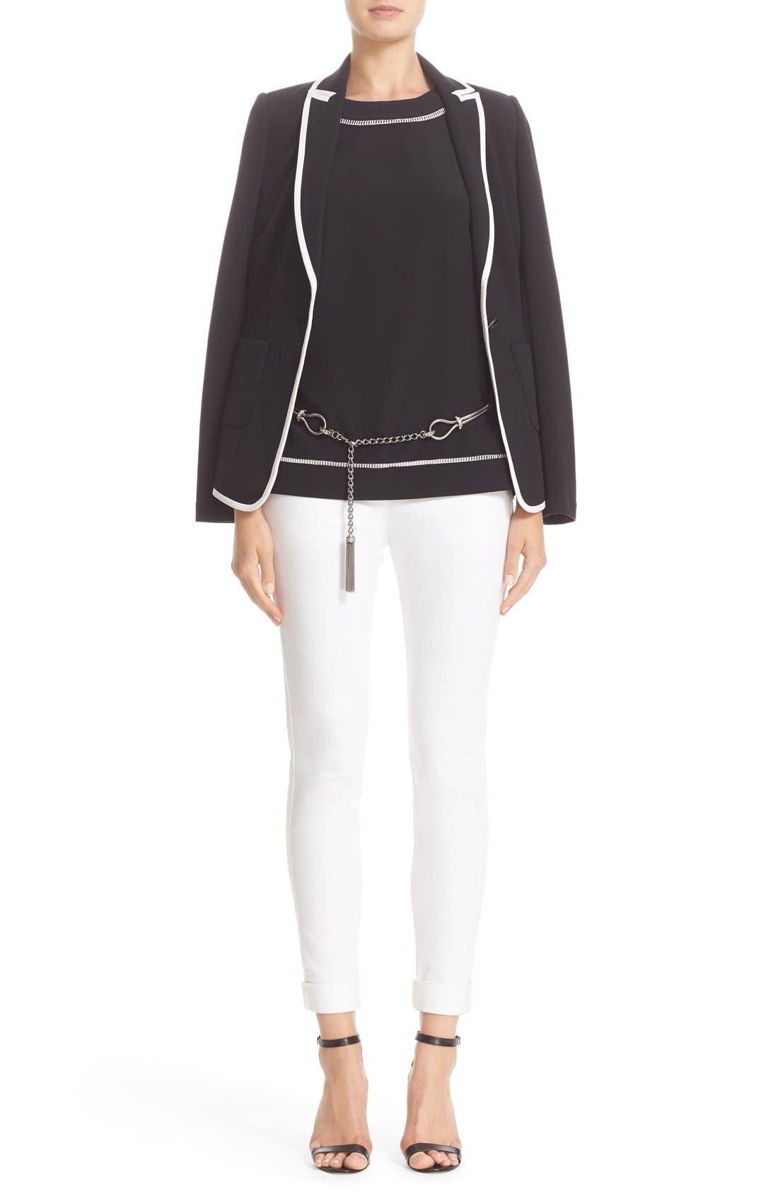 Alternate Image 7  - St. John Sport Collection Bardot Slim Capri Jeans