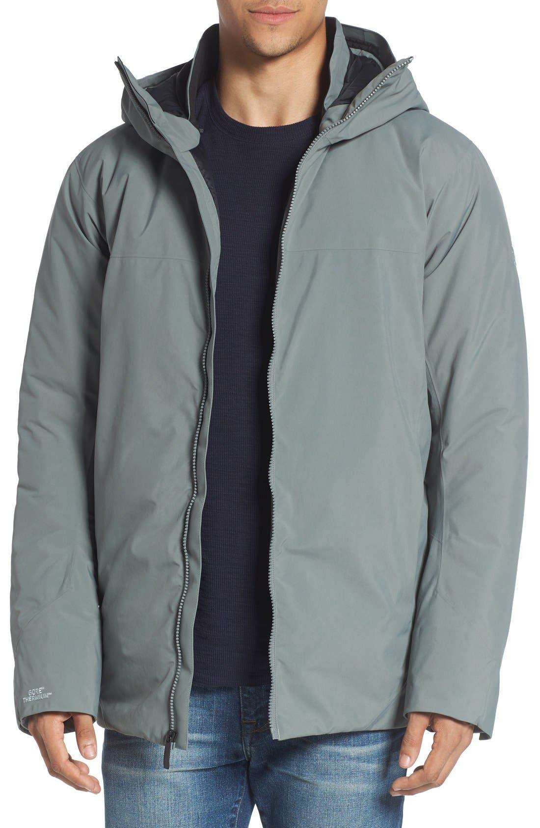 'Koda' Hooded Waterproof Shell Jacket,                         Main,                         color, Autobahn