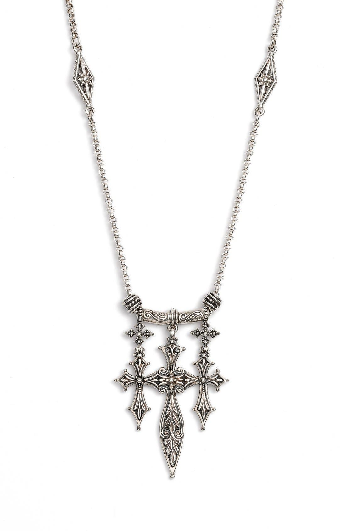 KONSTANTINO Penelope Triple Cross Pendant Necklace