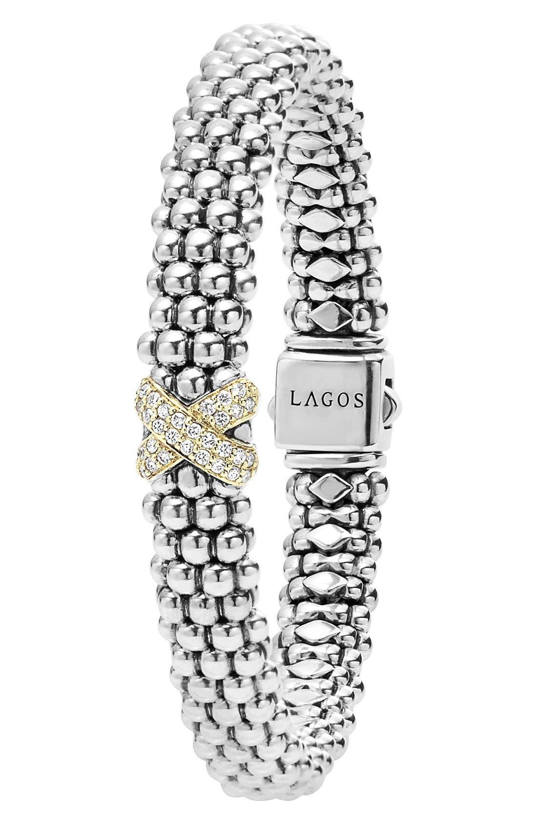 Alternate Image 2  - LAGOS 'Caviar' Gold Diamond Rope Bracelet