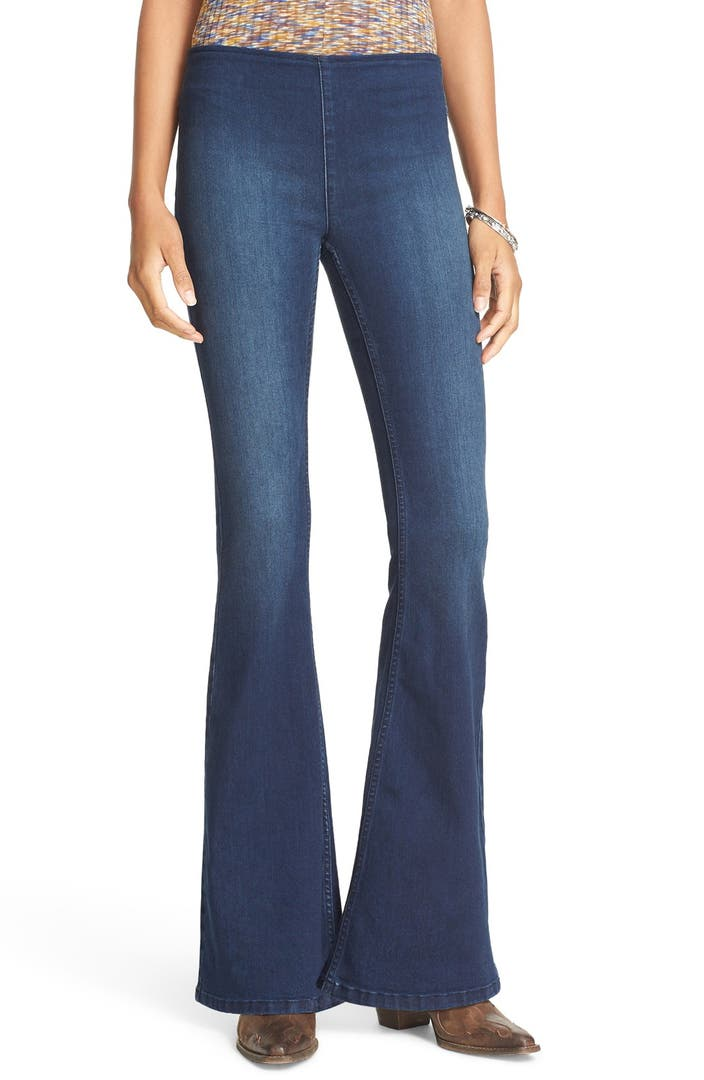 Free People Penny Pull On Flare Jeans Nordstrom