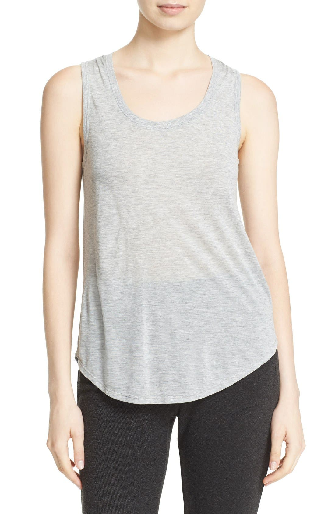 'Sweetheart' Modal Tank,                         Main,                         color, Heather Grey