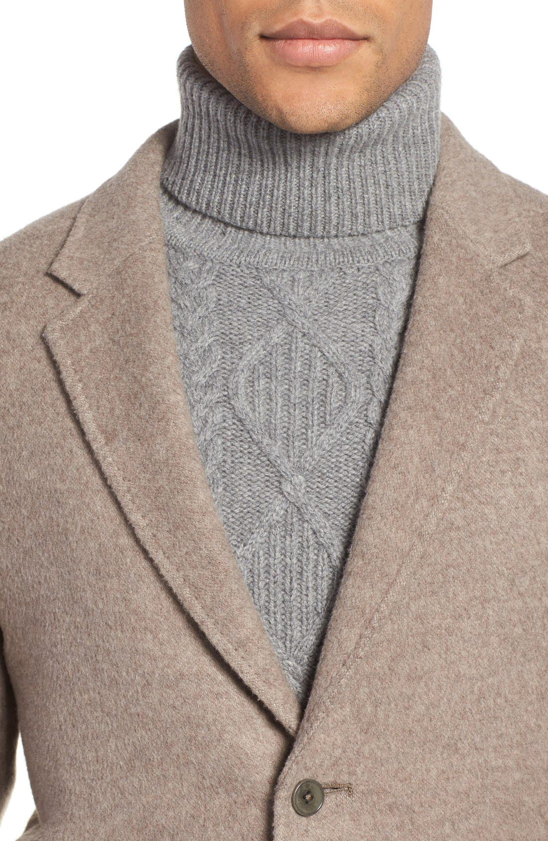'Wentworth' Wool Coat,                             Alternate thumbnail 4, color,                             Fawn