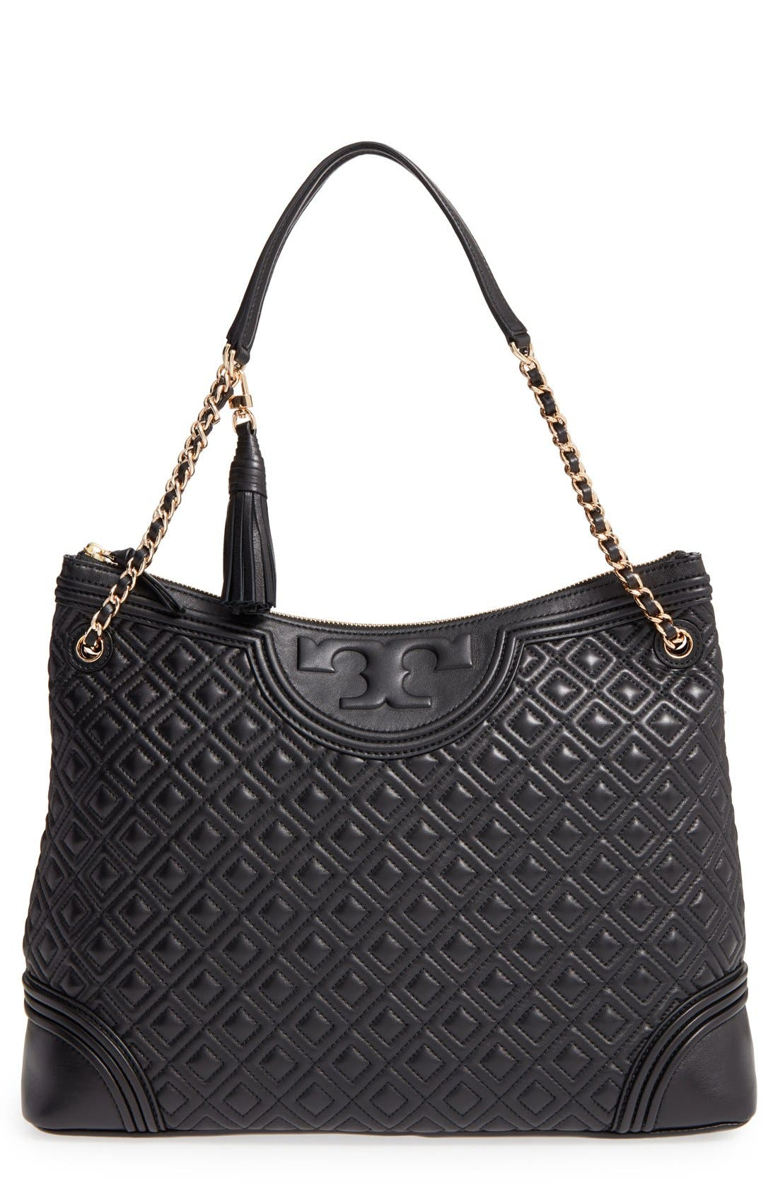 Main Image - Tory Burch 'Fleming' Leather Shoulder Bag