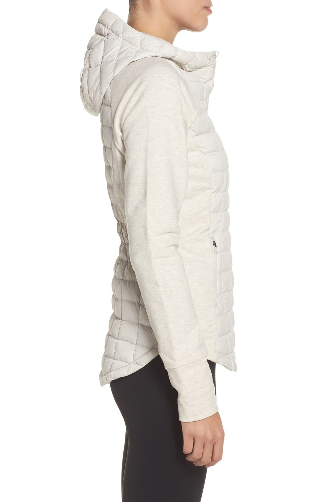 'Endeavor' ThermoBall PrimaLoft<sup>®</sup> Quilted Jacket,                             Alternate thumbnail 3, color,                             Moonlight Ivory/ Ivory White