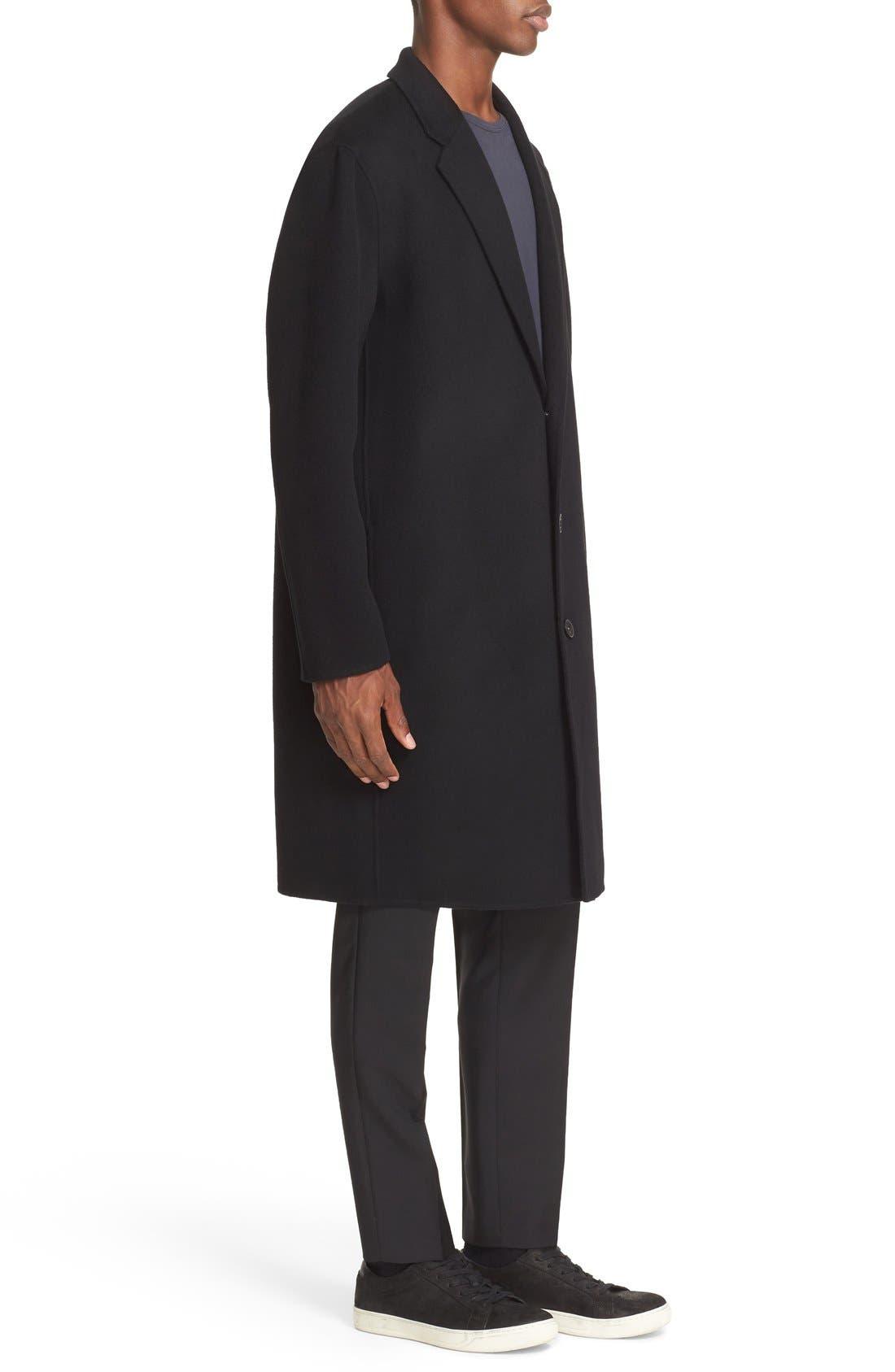 Charles Wool & Cashmere Coat,                             Alternate thumbnail 3, color,                             Black