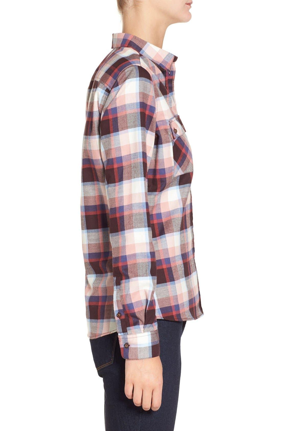 'Darwen' Plaid Shirt,                             Alternate thumbnail 3, color,                             Pink Check