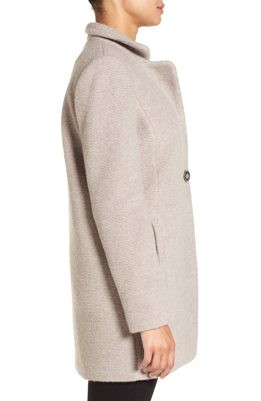 Alternate Image 3  - Kenneth Cole New York Bouclé Coat