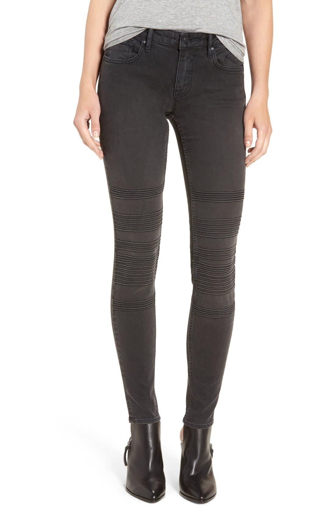 Main Image - Vigoss 'Chelsea' Moto Skinny Jeans