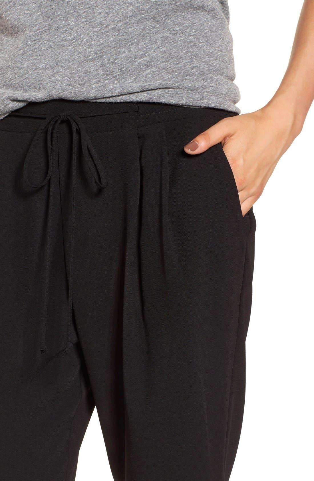 Alternate Image 5  - Lush Tie Waist Woven Pants