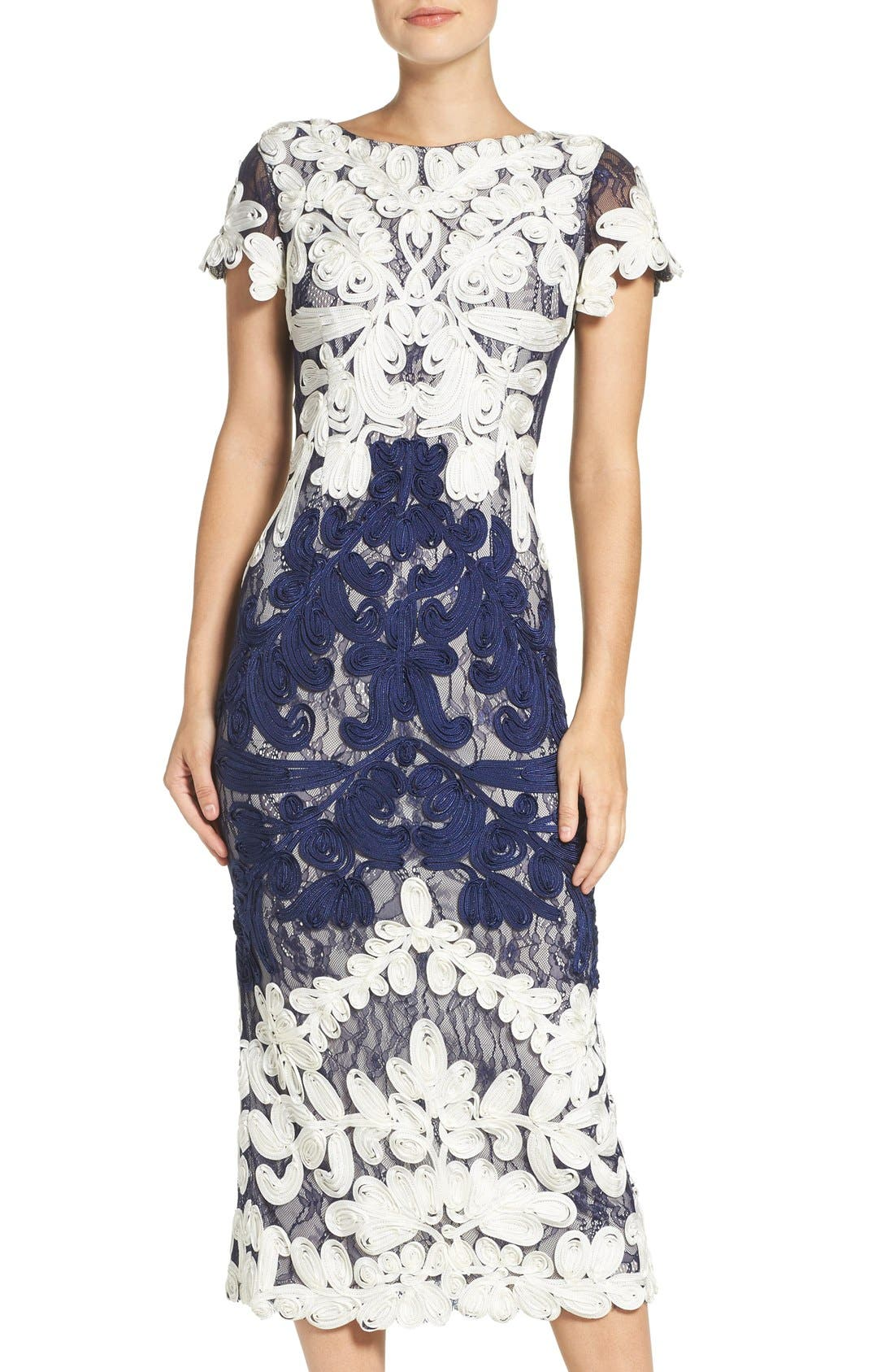 Js Collections Soutache Lace Midi Dress Nordstrom