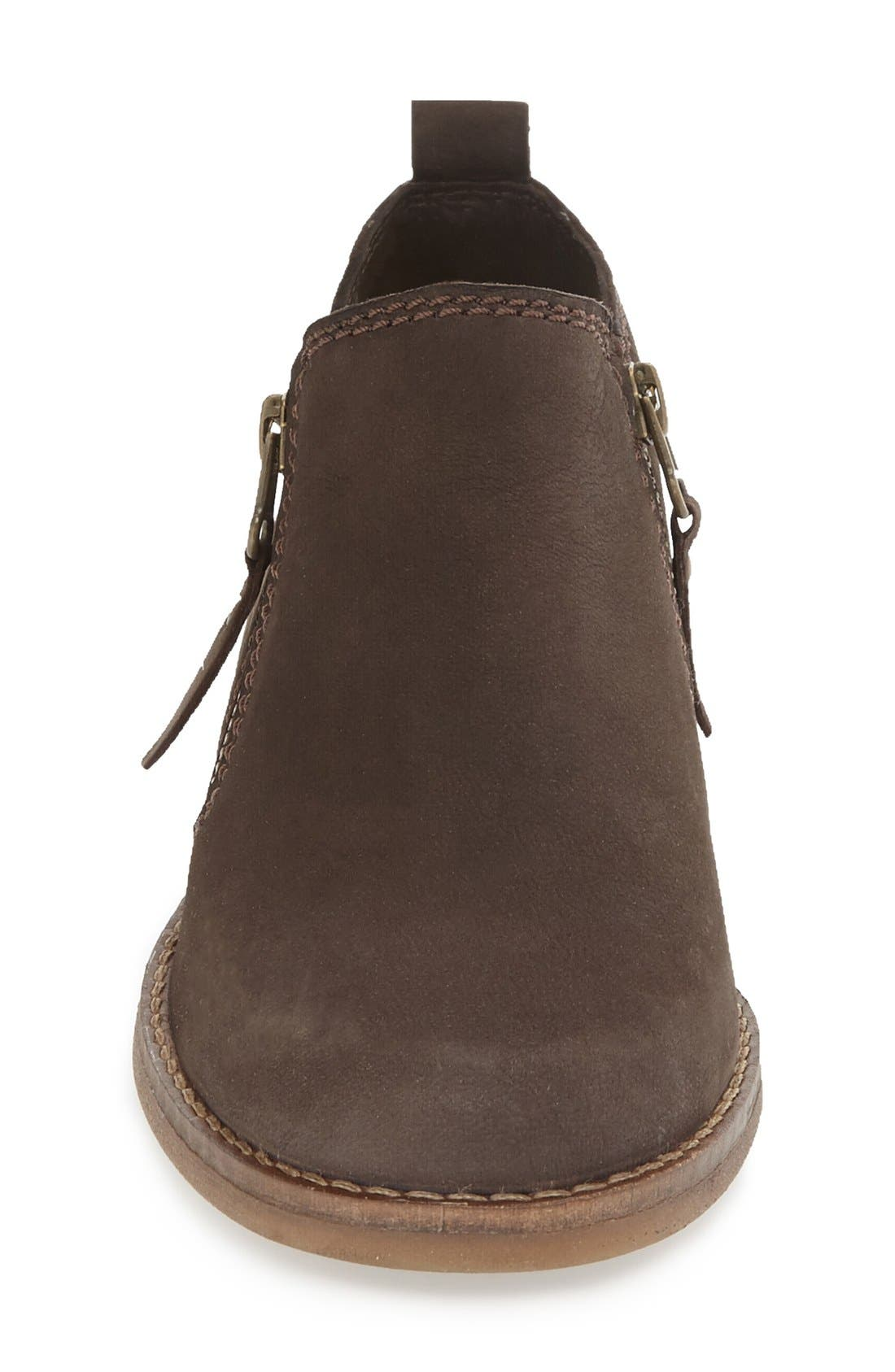 'Mazin Cayto' Bootie,                             Alternate thumbnail 3, color,                             Brown Nubuck Leather
