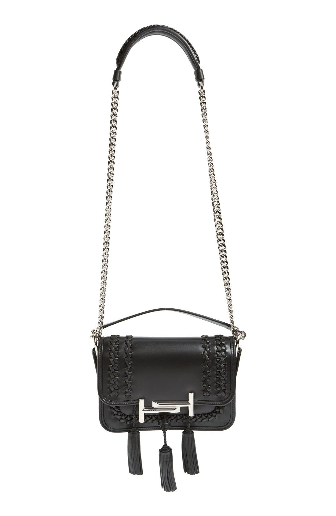 Alternate Image 1 Selected - Tod's 'Mini Double T' Leather Shoulder Bag