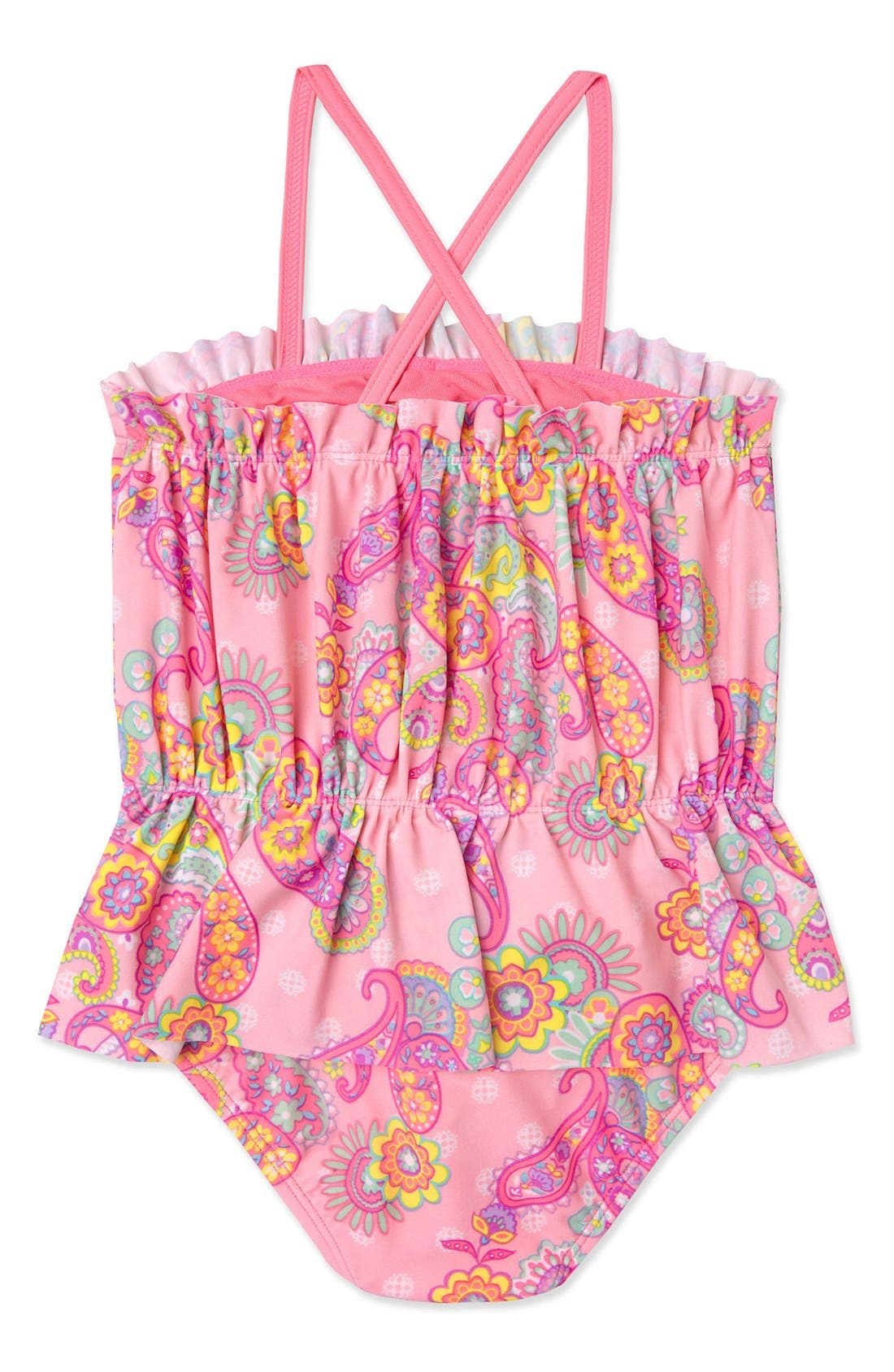 Alternate Image 2  - Hula Star 'Enchanted Paisley' One-Piece Swimsuit (Toddler Girls & Little Girls)