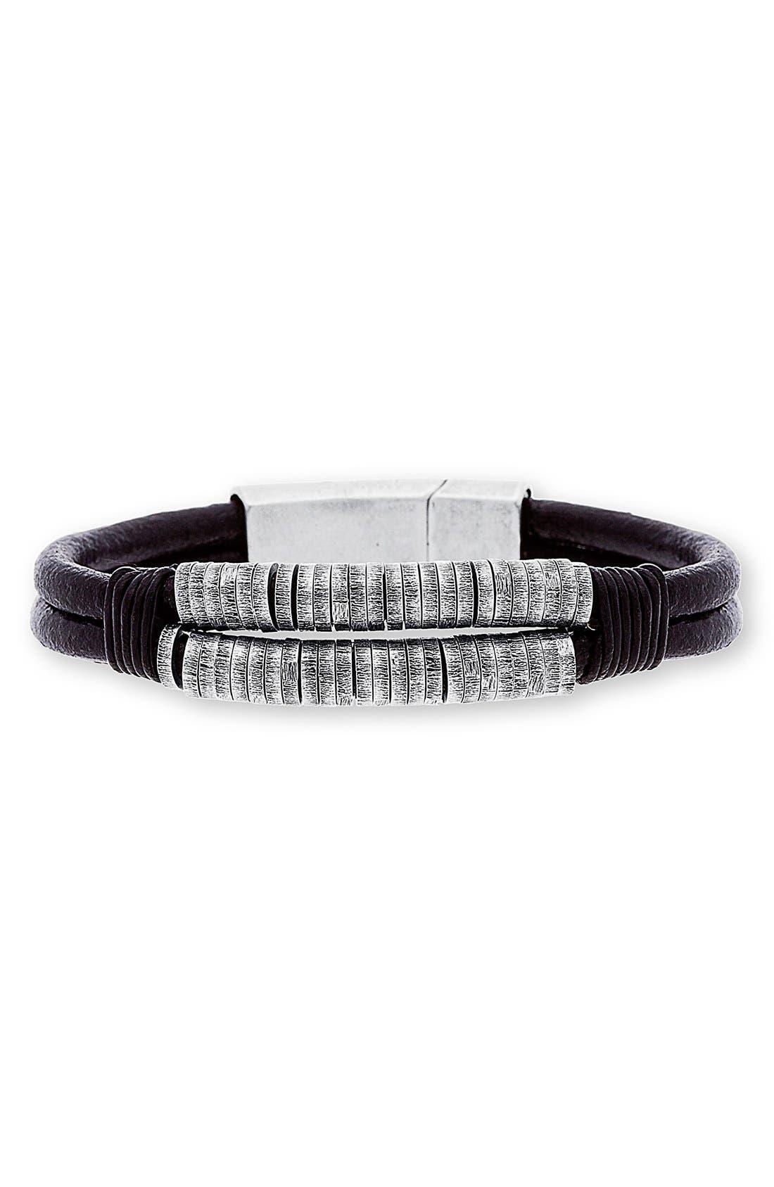 Alternate Image 1 Selected - Steve Madden Stainless Steel Bead Bracelet