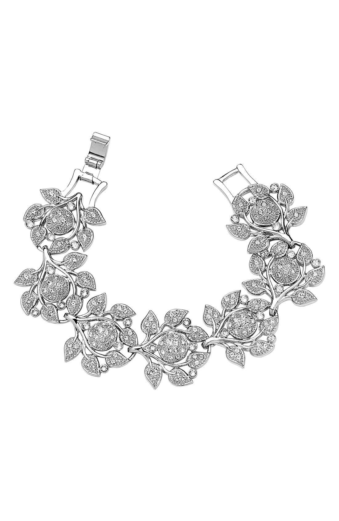 Ashlen Crystal Bracelet,                             Main thumbnail 1, color,                             Silver