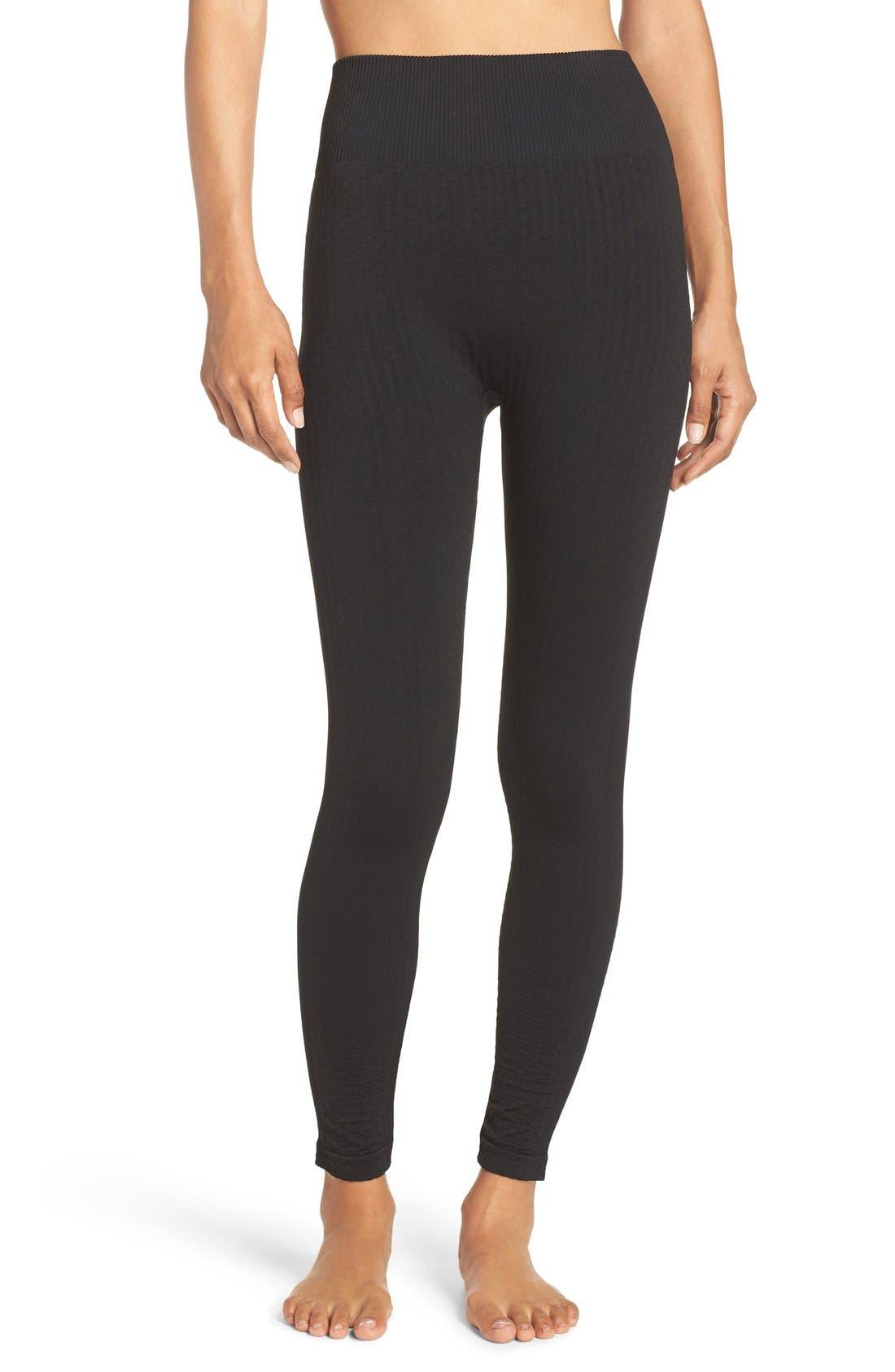 'Trail Blazer' High Waist Leggings,                         Main,                         color, Black Melange