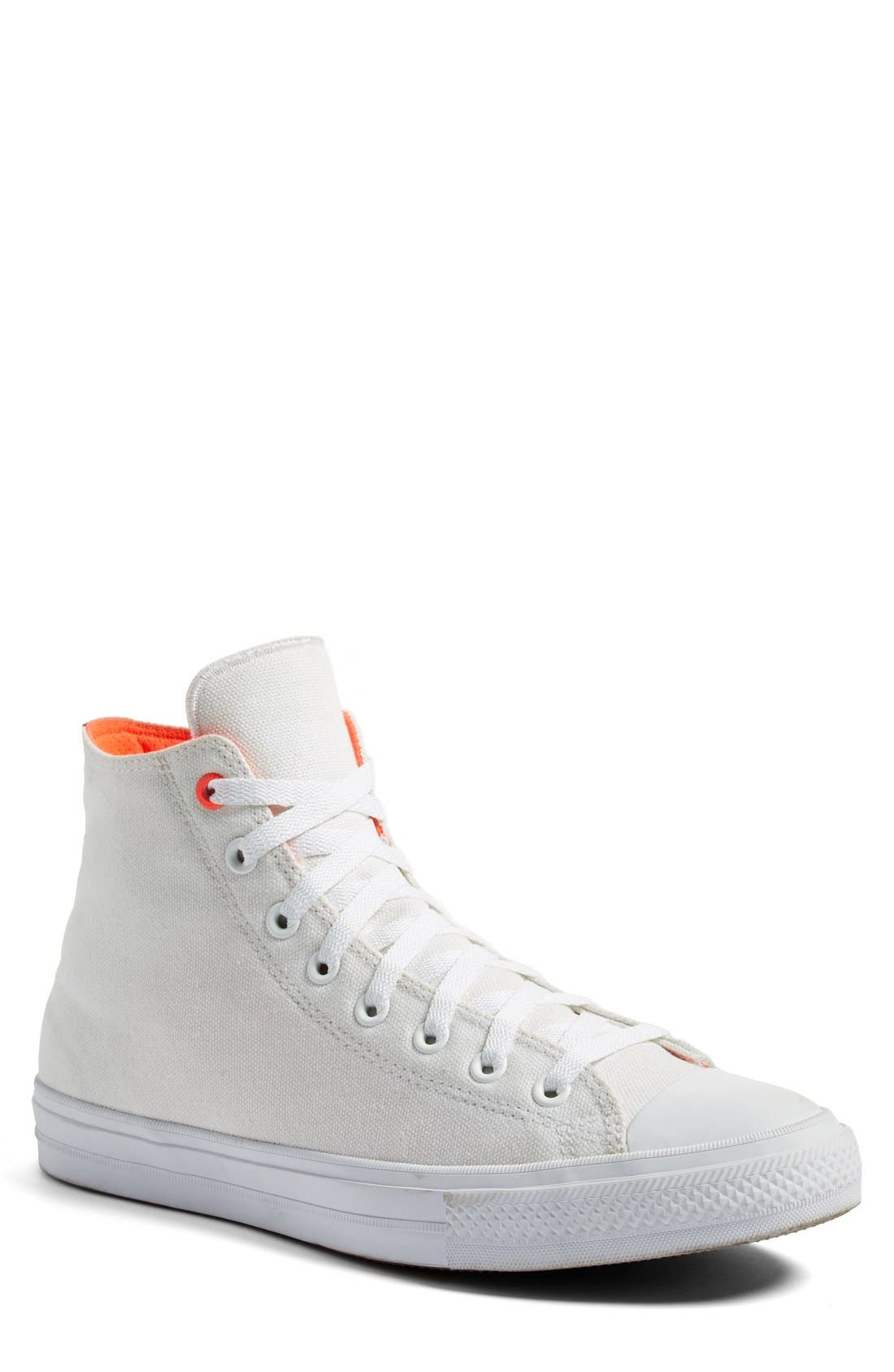 Chuck Taylor<sup>®</sup> All Star<sup>®</sup> II 'Shield' Water Repellent High Top Sneaker,                             Main thumbnail 1, color,                             White/ Lava/ Gum