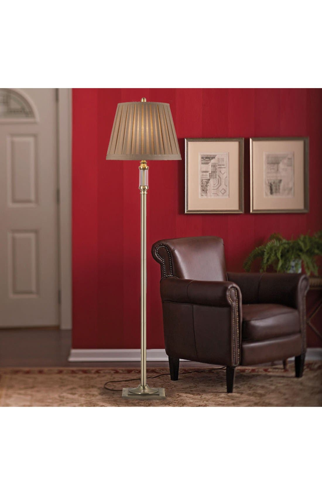 Alternate Image 2  - JAlexander Antiqued Brass & Glass Floor Lamp