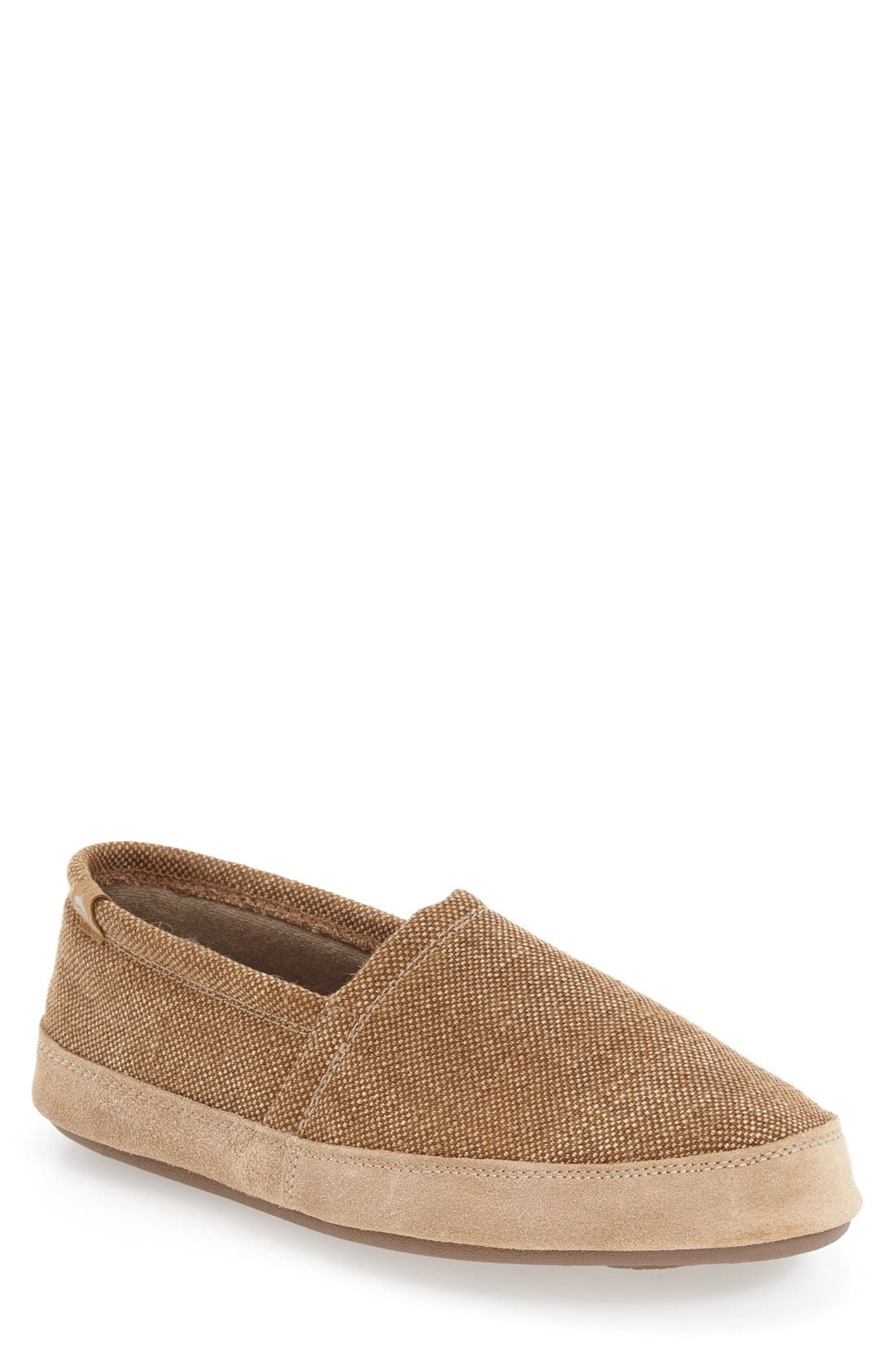 Moc Slipper,                             Main thumbnail 1, color,                             Toast Canvas
