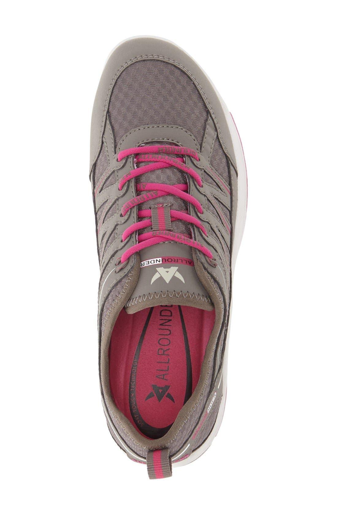 'Darina' Sneaker,                             Alternate thumbnail 2, color,                             Grigio Nubuck Leather