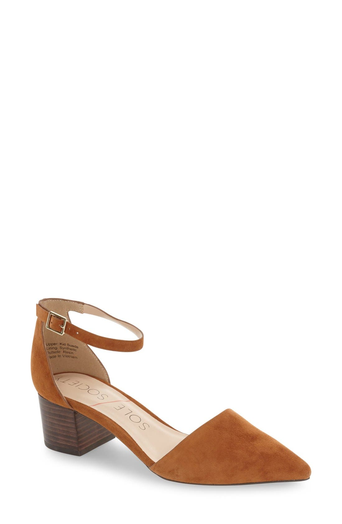 Sole Society 'Katarina' Block Heel Pump (Women)