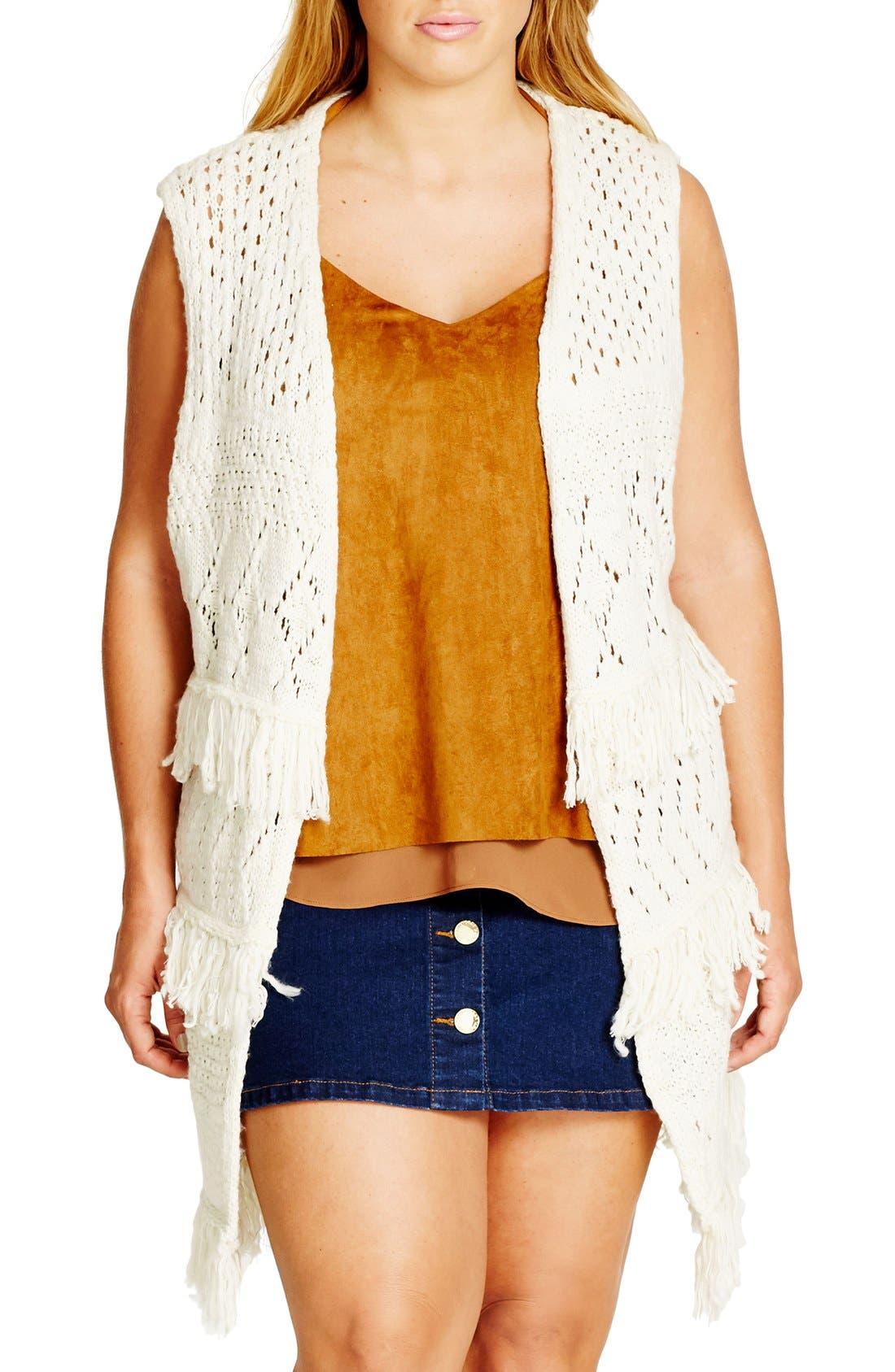Alternate Image 1 Selected - City Chic Cocoon Vest (Plus Size)